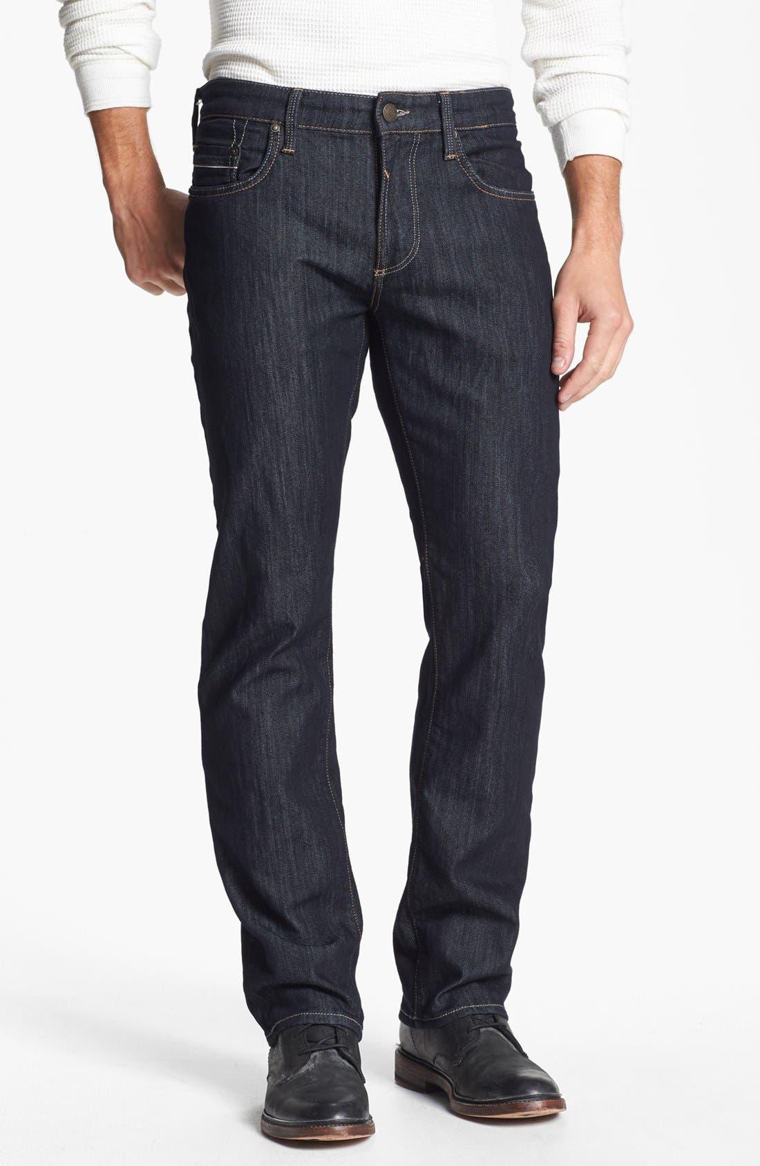 Main Image - Mavi Jeans 'Zach' Straight Leg Jeans (Rinse Kensington)