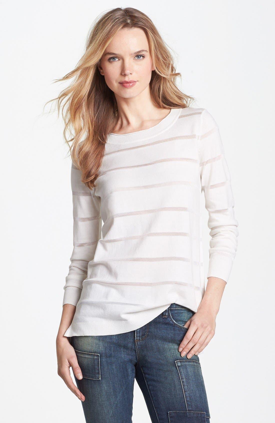 Alternate Image 1 Selected - Vince Camuto Illusion Stripe Sweater (Regular & Petite)