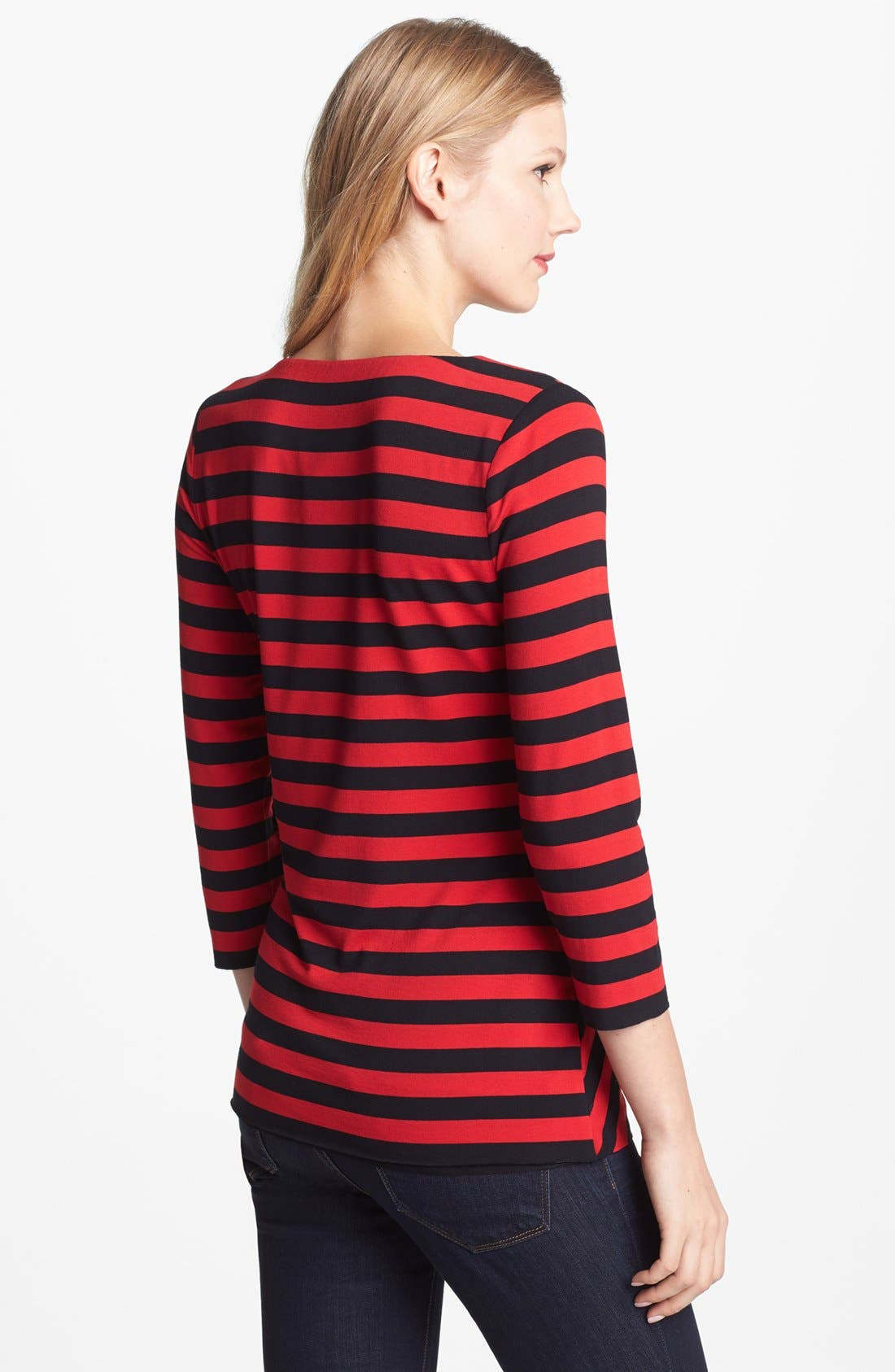 Alternate Image 2  - Vince Camuto Zigzag Stripe Top