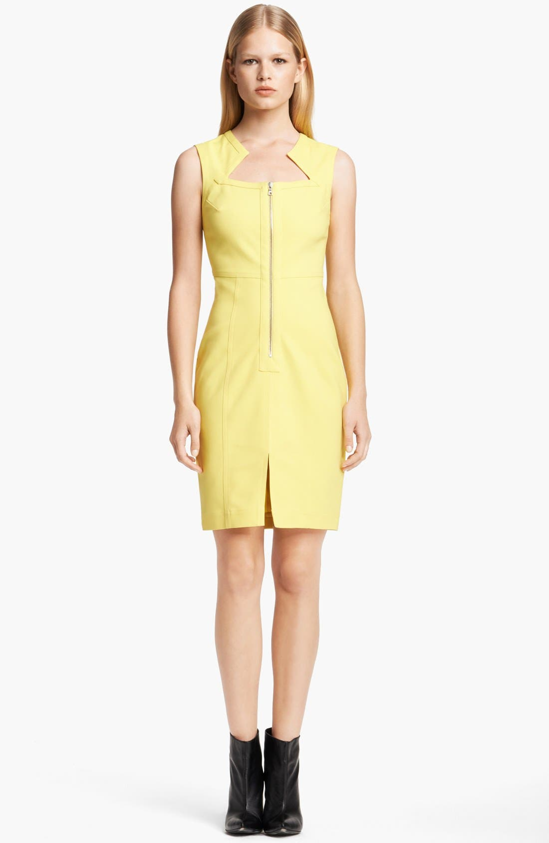 Main Image - Yigal Azrouël Sleeveless Techno Cotton Dress