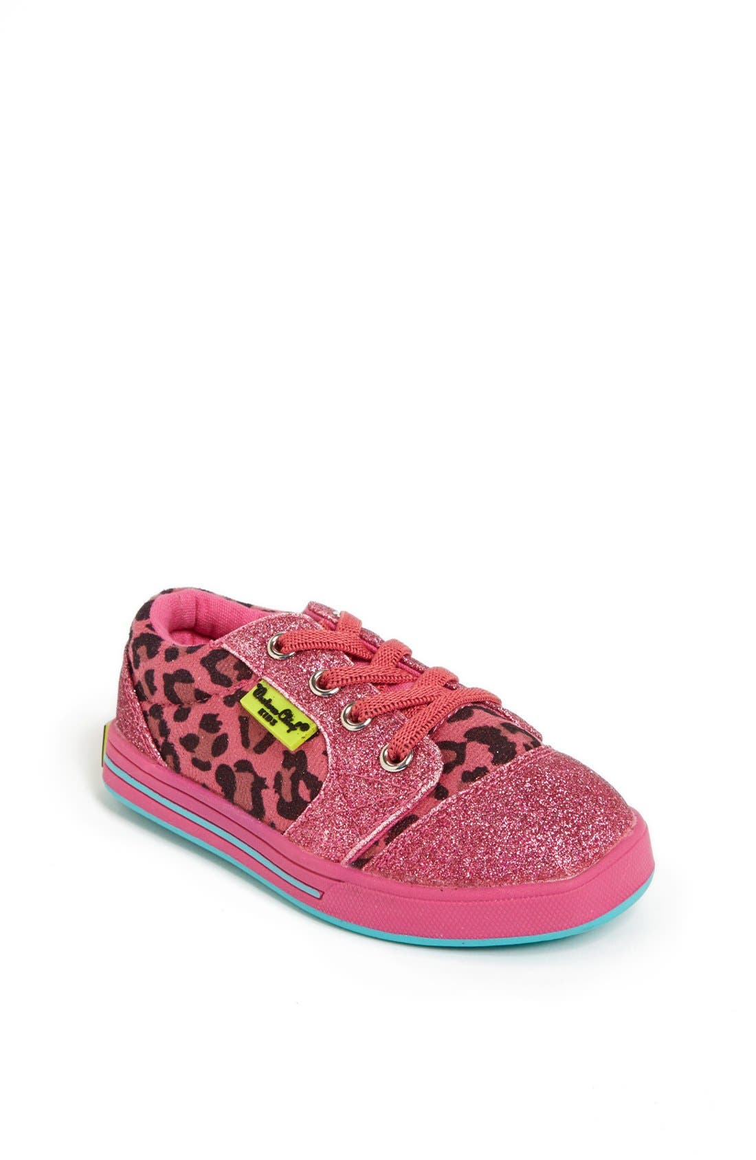 Alternate Image 1 Selected - Western Chief 'Flashy Leopard' Sneaker (Walker & Toddler)