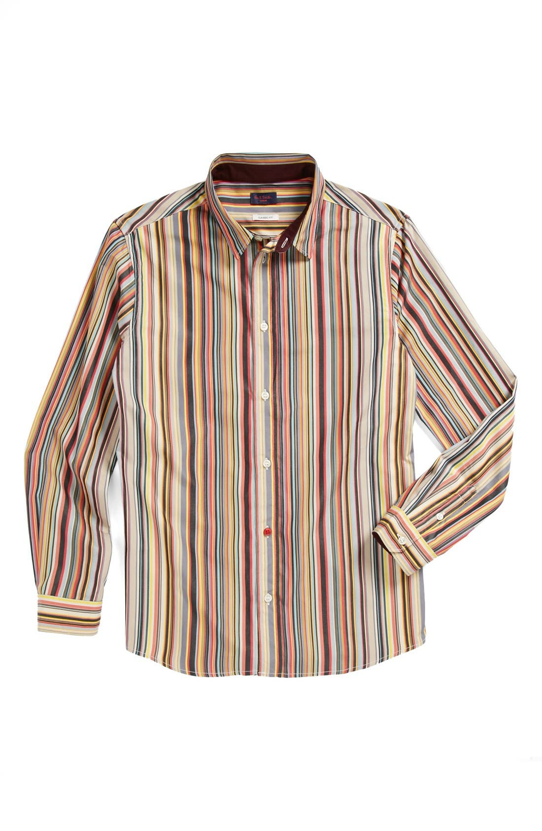 Alternate Image 1 Selected - Paul Smith Junior 'Elrick' Stripe Sport Shirt (Toddler Boys, Little Boys & Big Boys)