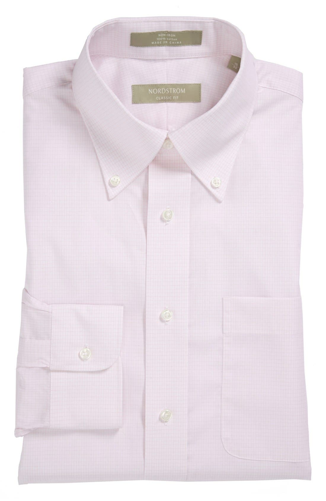 Alternate Image 1 Selected - Nordstrom Classic Fit Non-Iron Dress Shirt (Big & Tall)