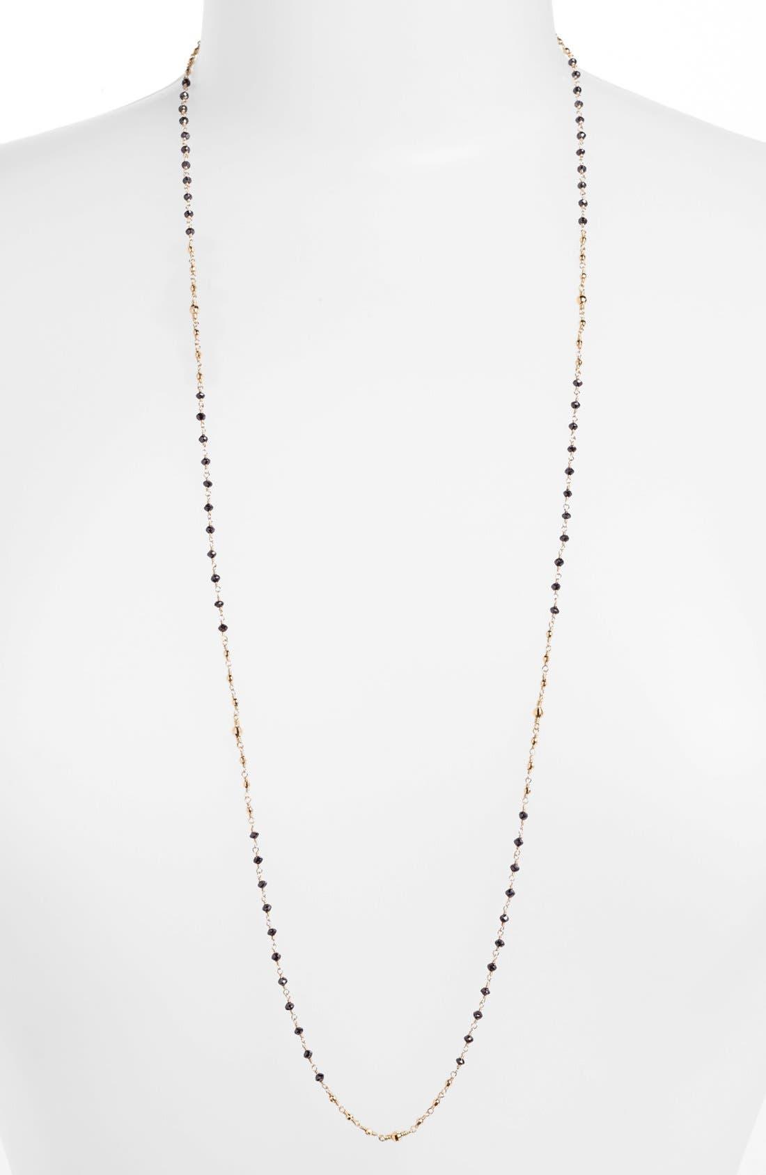 Alternate Image 1 Selected - Mizuki 'Cut Beads' Long Black Diamond Station Necklace