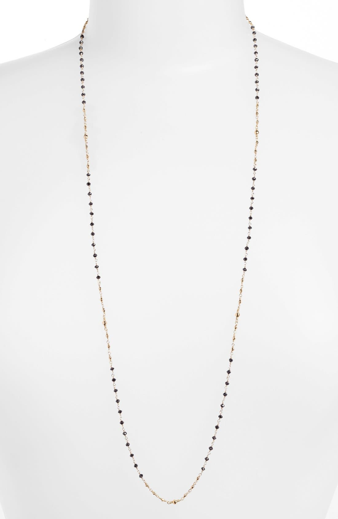 Main Image - Mizuki 'Cut Beads' Long Black Diamond Station Necklace