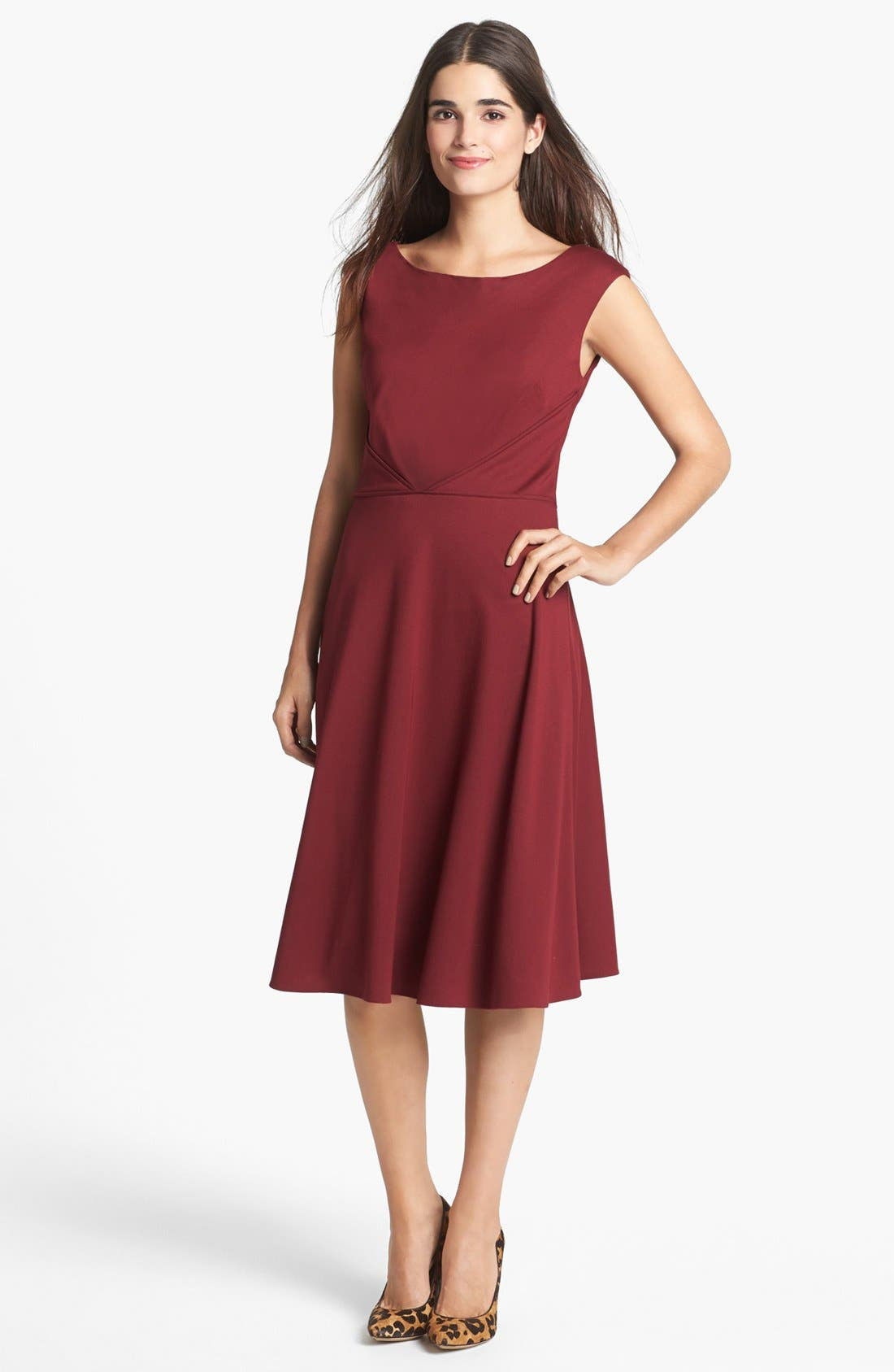 Alternate Image 1 Selected - Adrianna Papell Ponte Knit Fit & Flare Dress