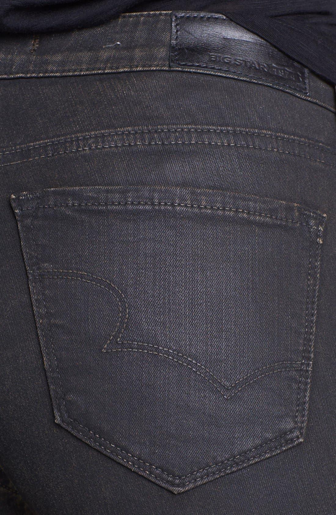 Alternate Image 3  - Big Star 'Alex' Stretch Skinny Jeans (Bronson) (Petite)