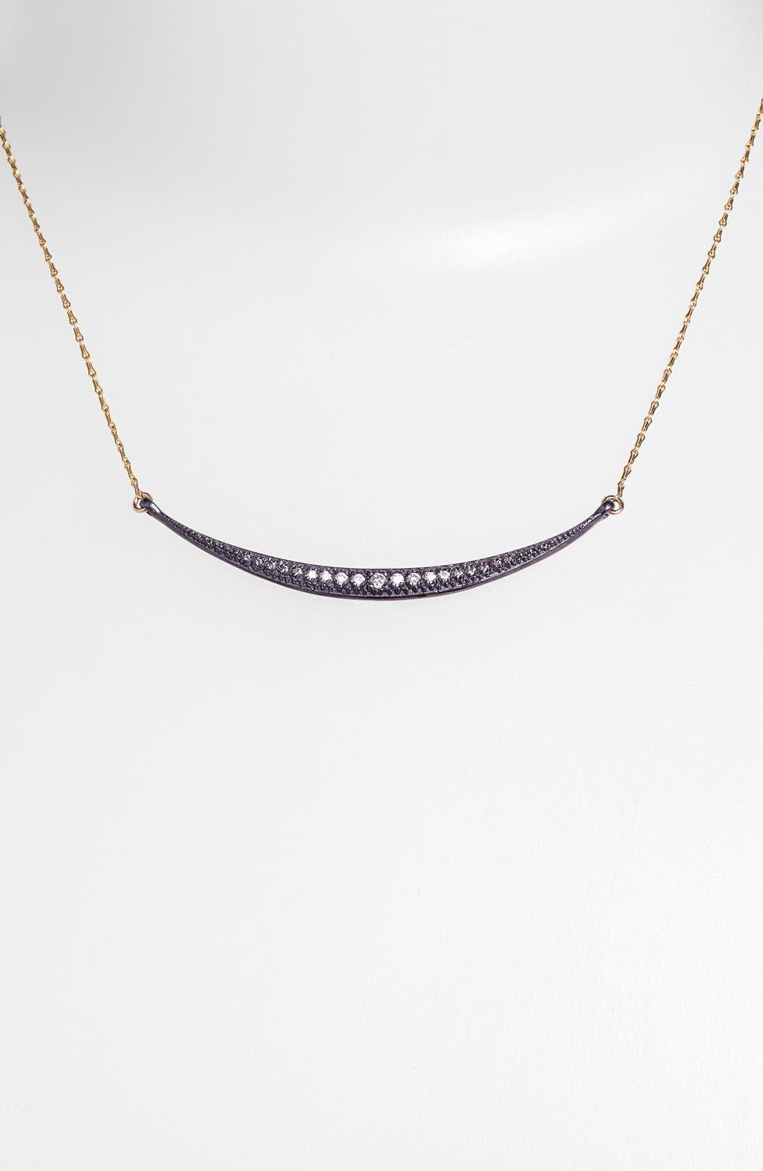 Alternate Image 2  - Mizuki 'Icicles' Diamond Crescent Pendant Necklace