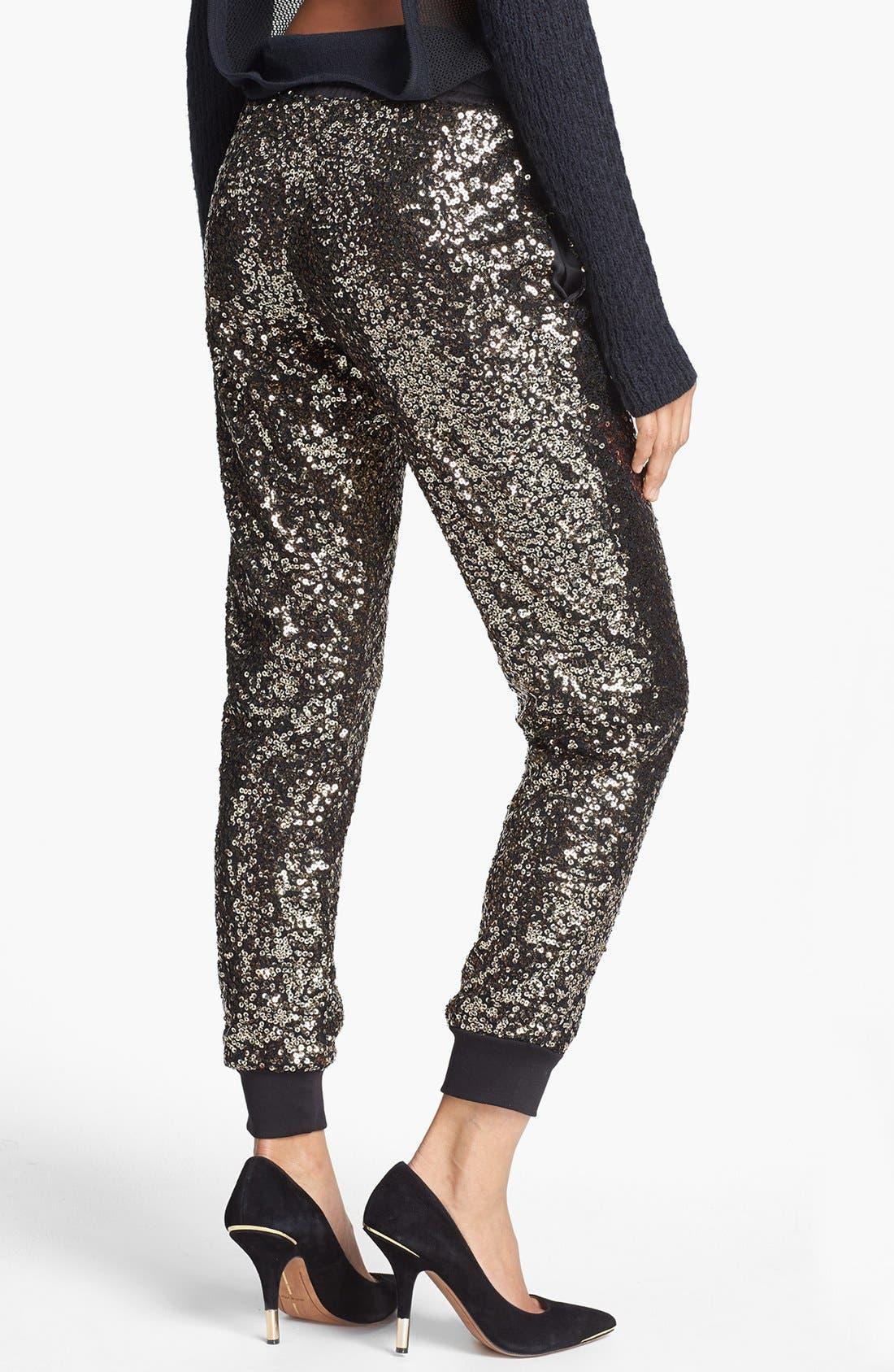 Alternate Image 2  - WAYF Crop Sequin Track Pants