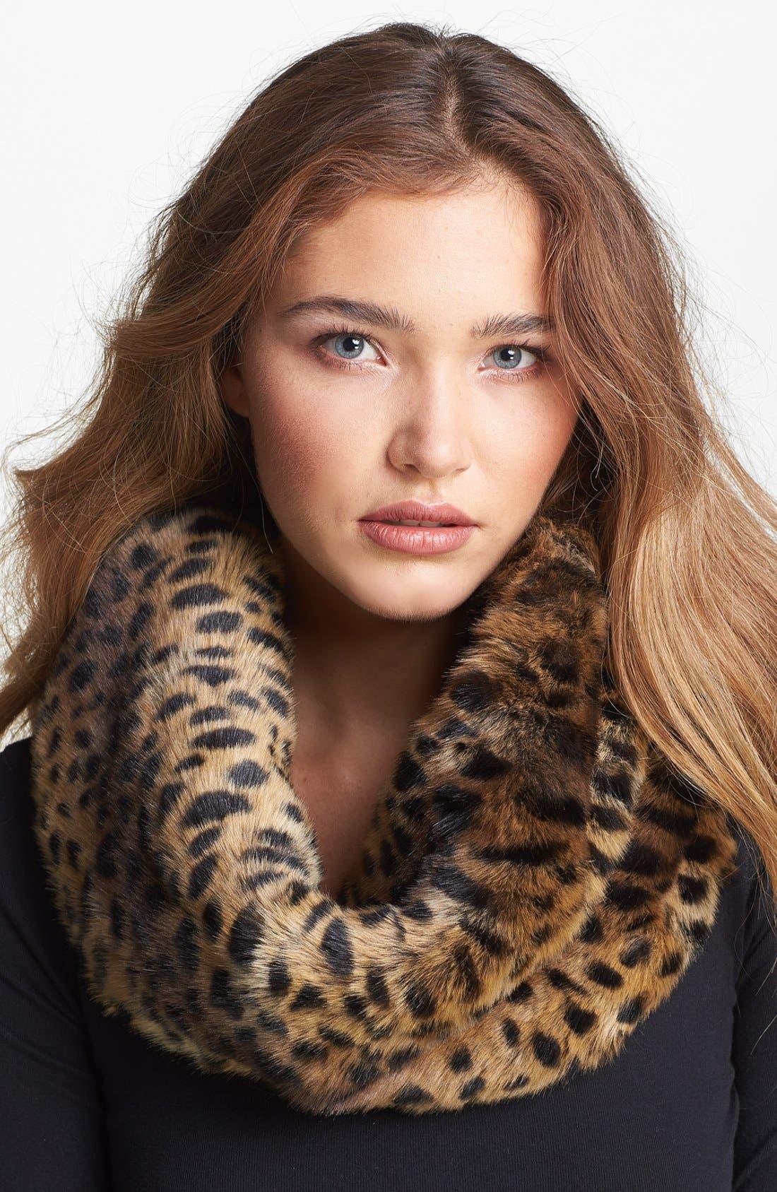 Main Image - Parkhurst Faux Fur Twist Infinity Scarf