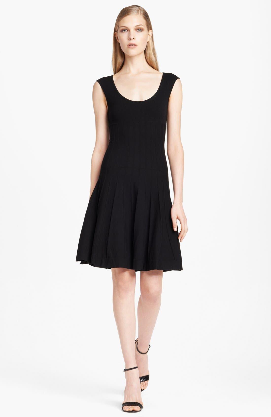 Main Image - Donna Karan Collection Cap Sleeve Fit & Flare Dress