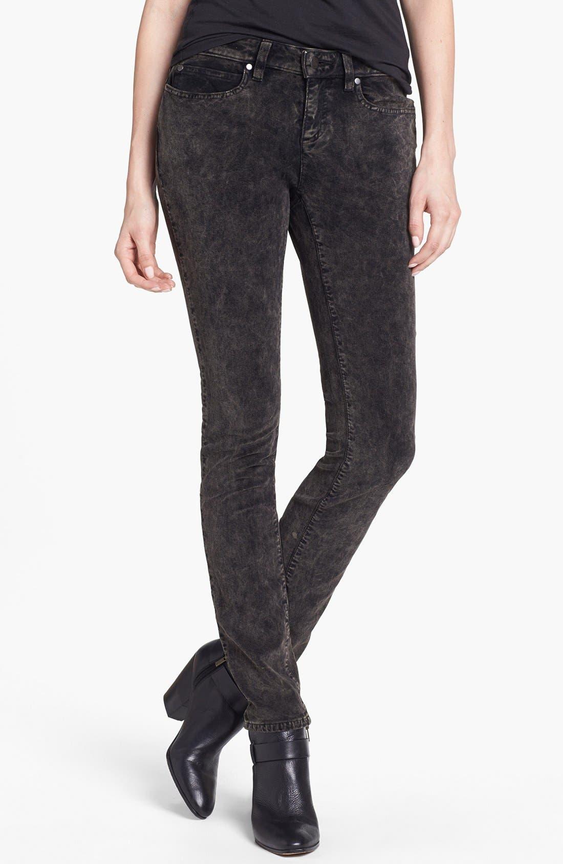 Main Image - Eileen Fisher Stretch Velveteen Skinny Jeans