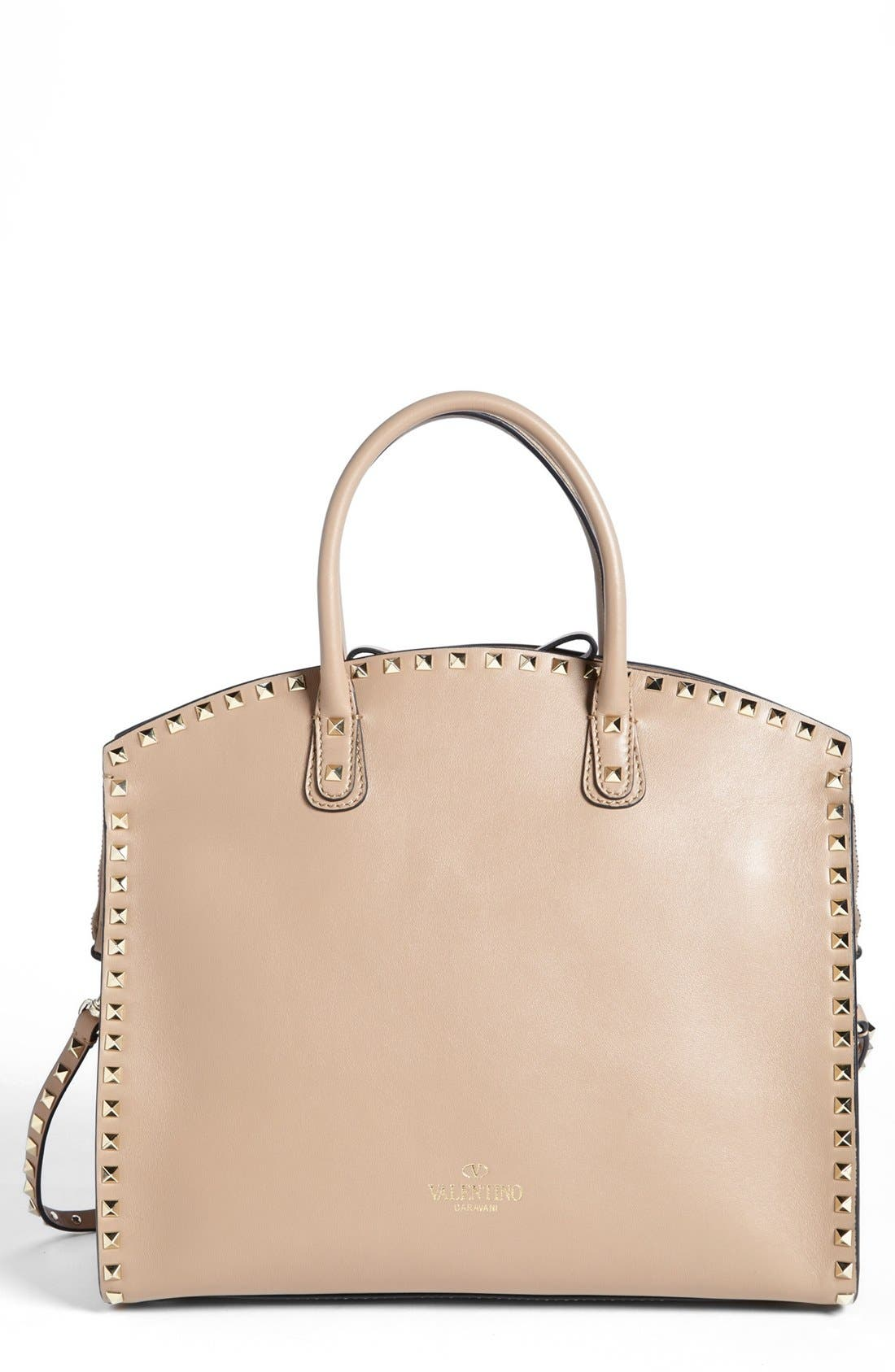 Alternate Image 1 Selected - Valentino 'Rockstud' Leather Dome Satchel