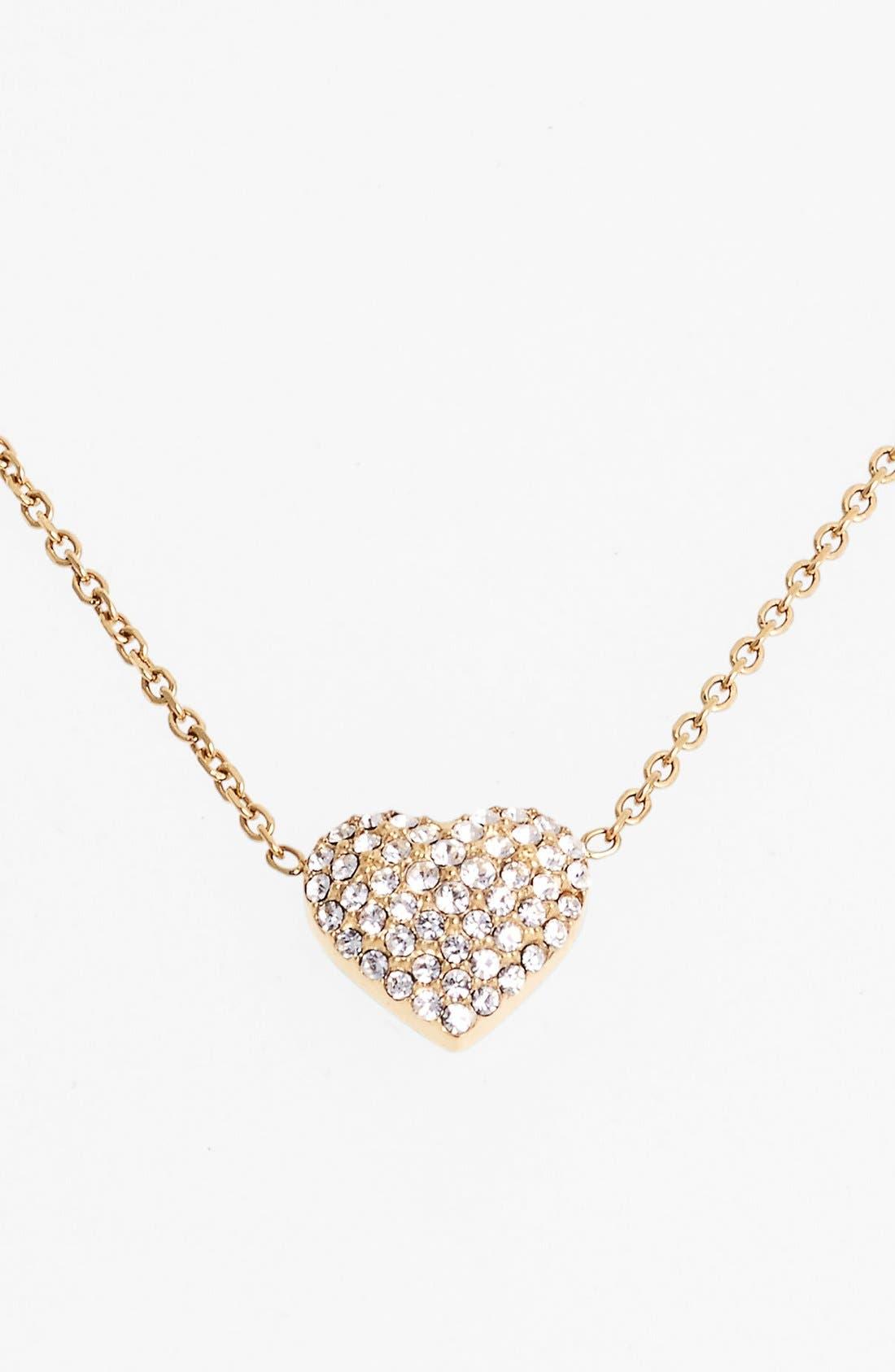 Alternate Image 1 Selected - Michael Kors 'Brilliance' Pavé Heart Necklace