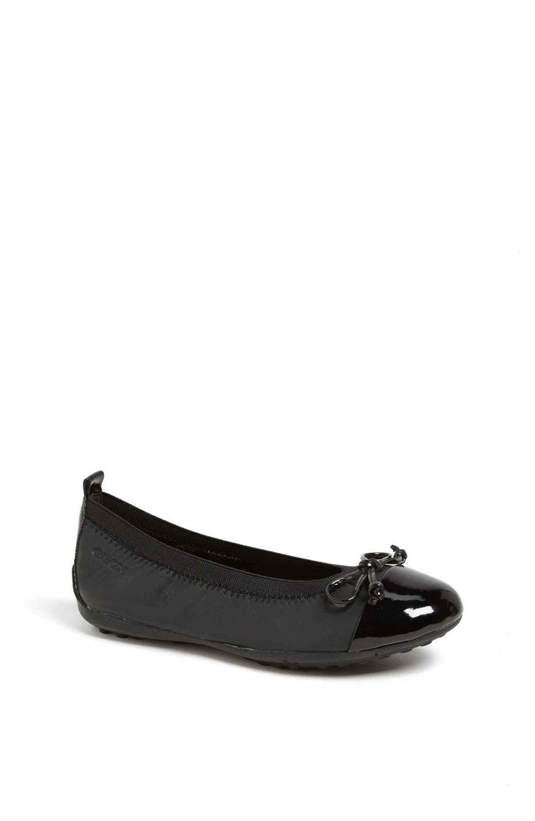 'Piuma' Ballerina Flat,                         Main,                         color, Black