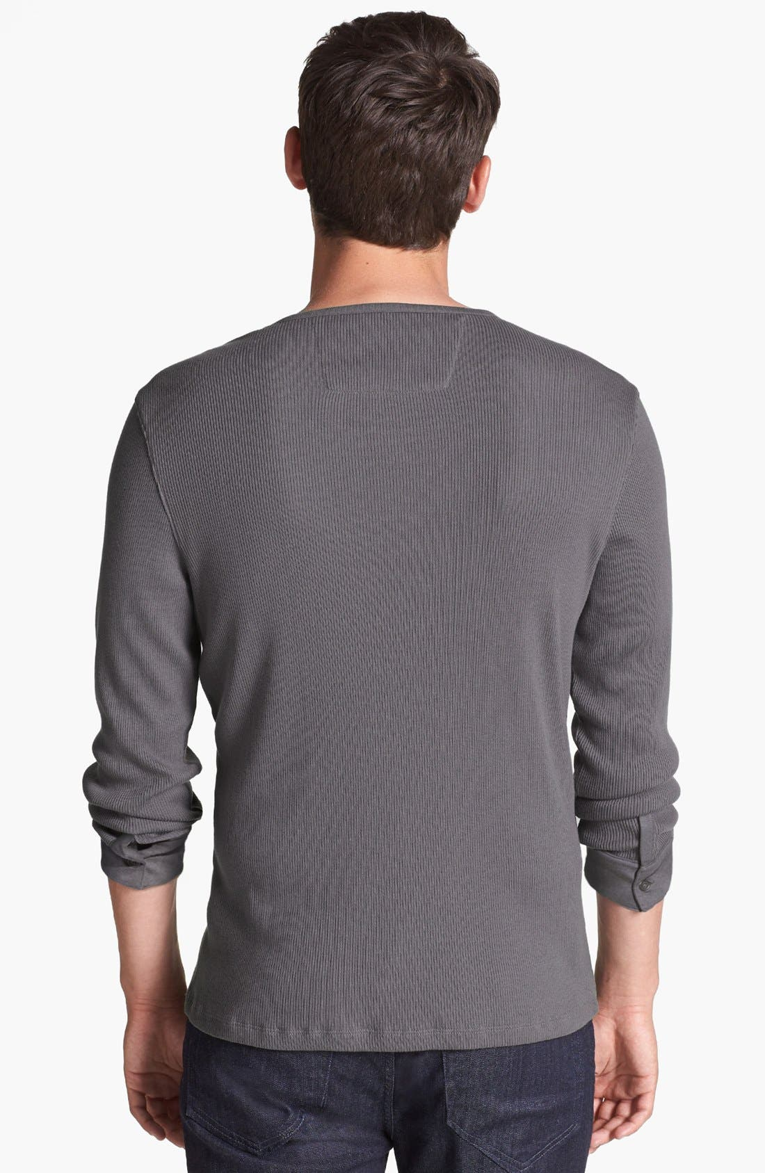 Alternate Image 2  - John Varvatos Star USA Ribbed Long-Sleeve Henley