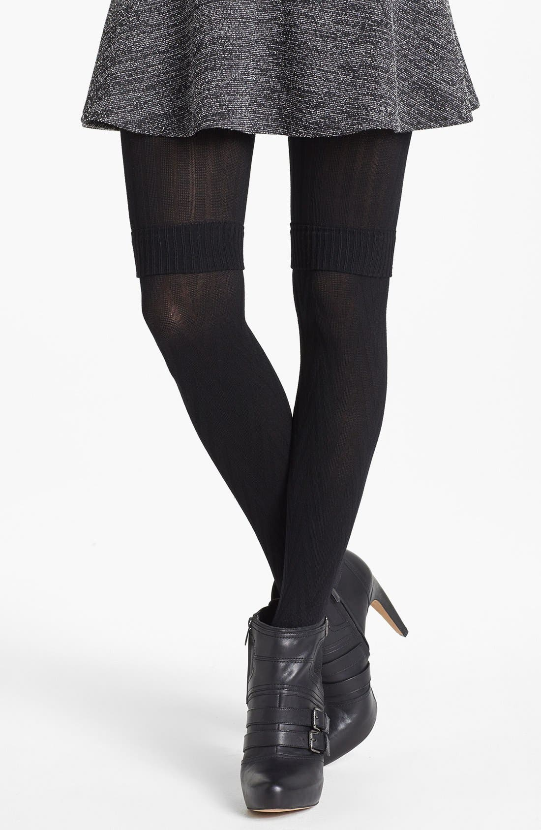 Alternate Image 1 Selected - Hot Sox Layered Look Tights