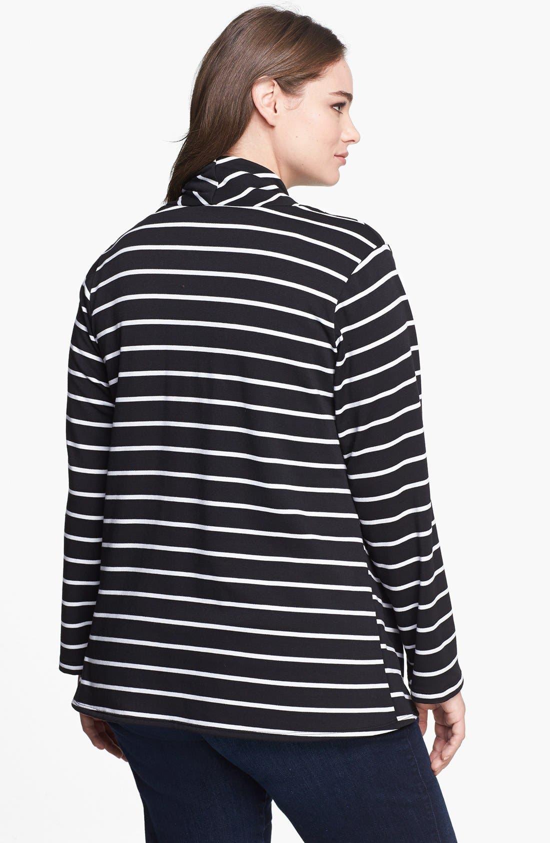 Stripe Fleece Wrap,                             Alternate thumbnail 2, color,                             Ivory Stripe