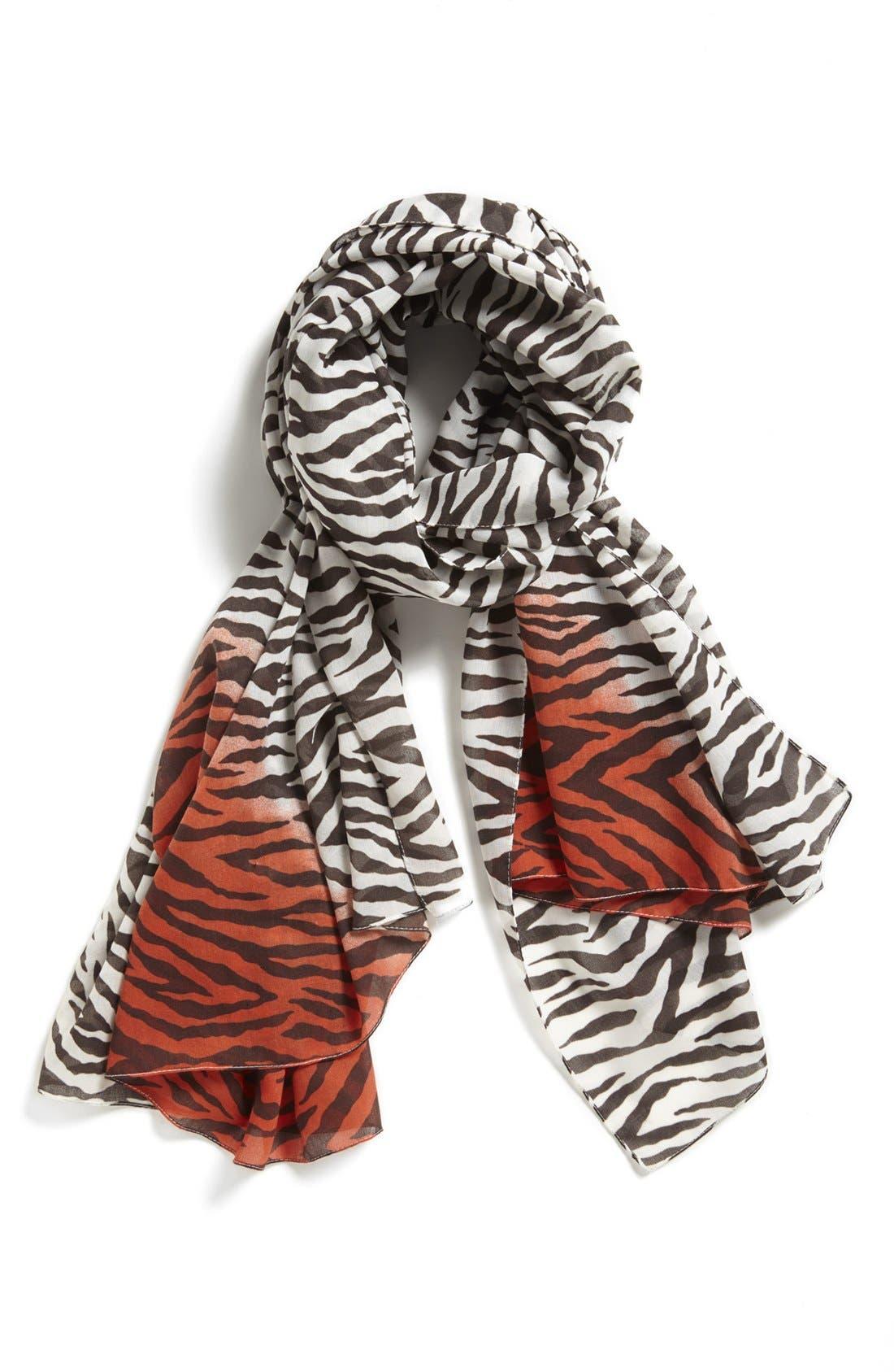 Alternate Image 1 Selected - Nordstrom Zebra Print Scarf