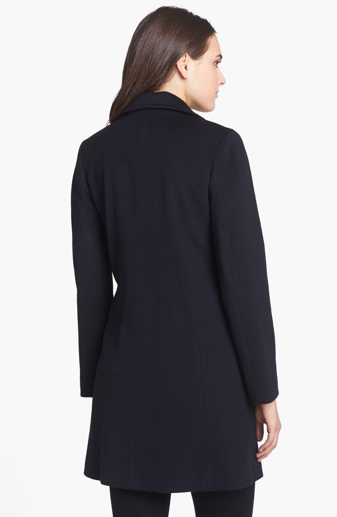 Alternate Image 2  - Fleurette Notch Collar Loro Piana Wool Coat