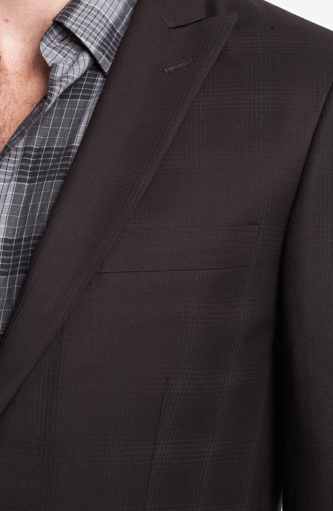 Alternate Image 2  - John Varvatos Star USA Plaid Peak Lapel Sportcoat