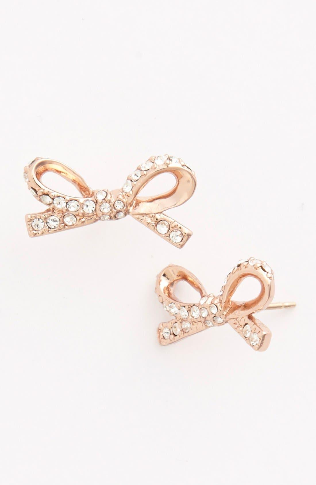Alternate Image 1 Selected - kate spade new york 'skinny mini' bow stud earrings