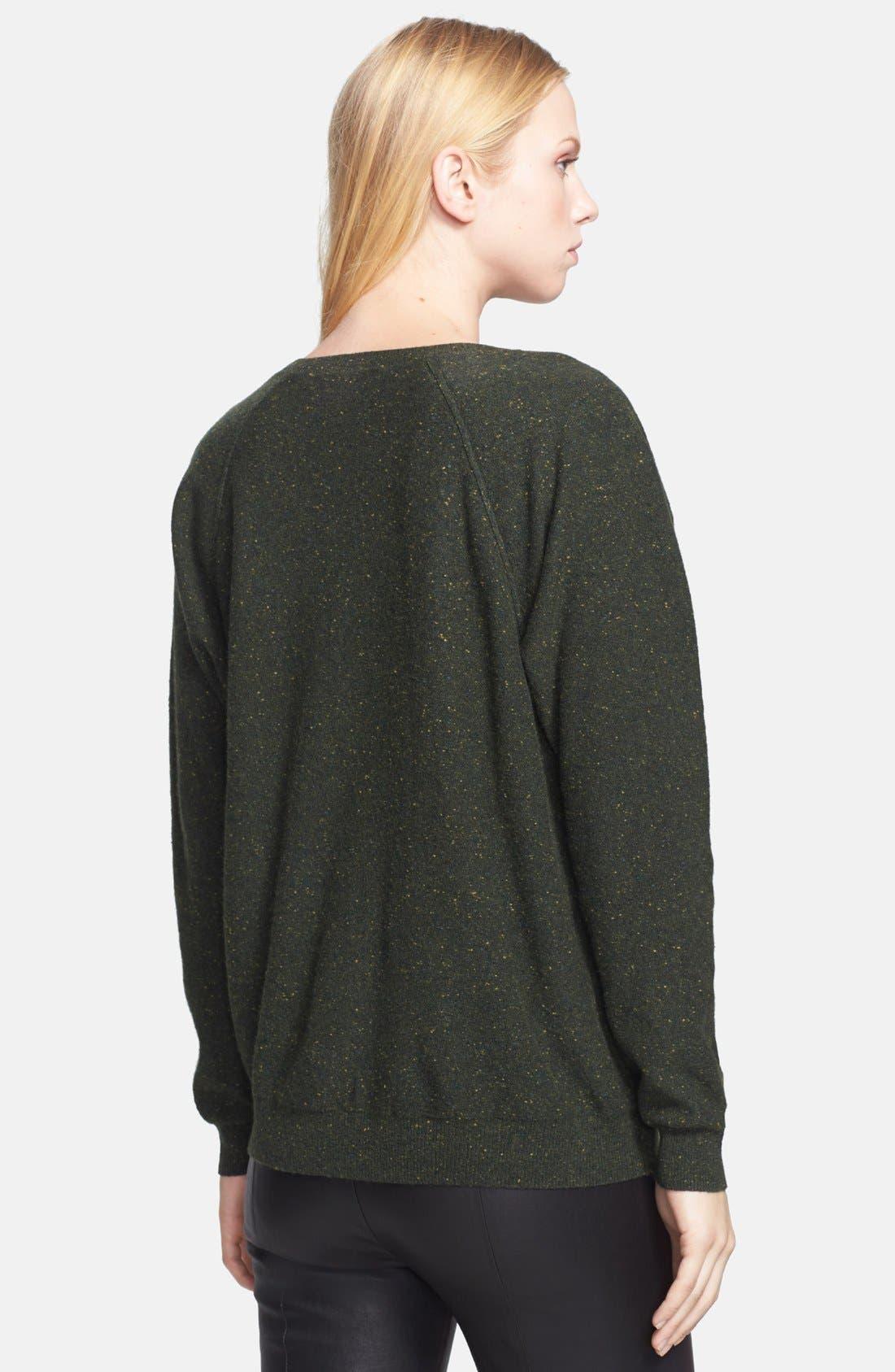 Alternate Image 2  - autumn cashmere Camo Pattern Cashmere Sweater