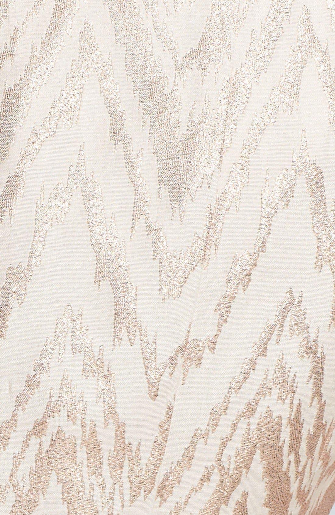 Alternate Image 3  - Vince Camuto Metallic Jacquard Fit & Flare Dress