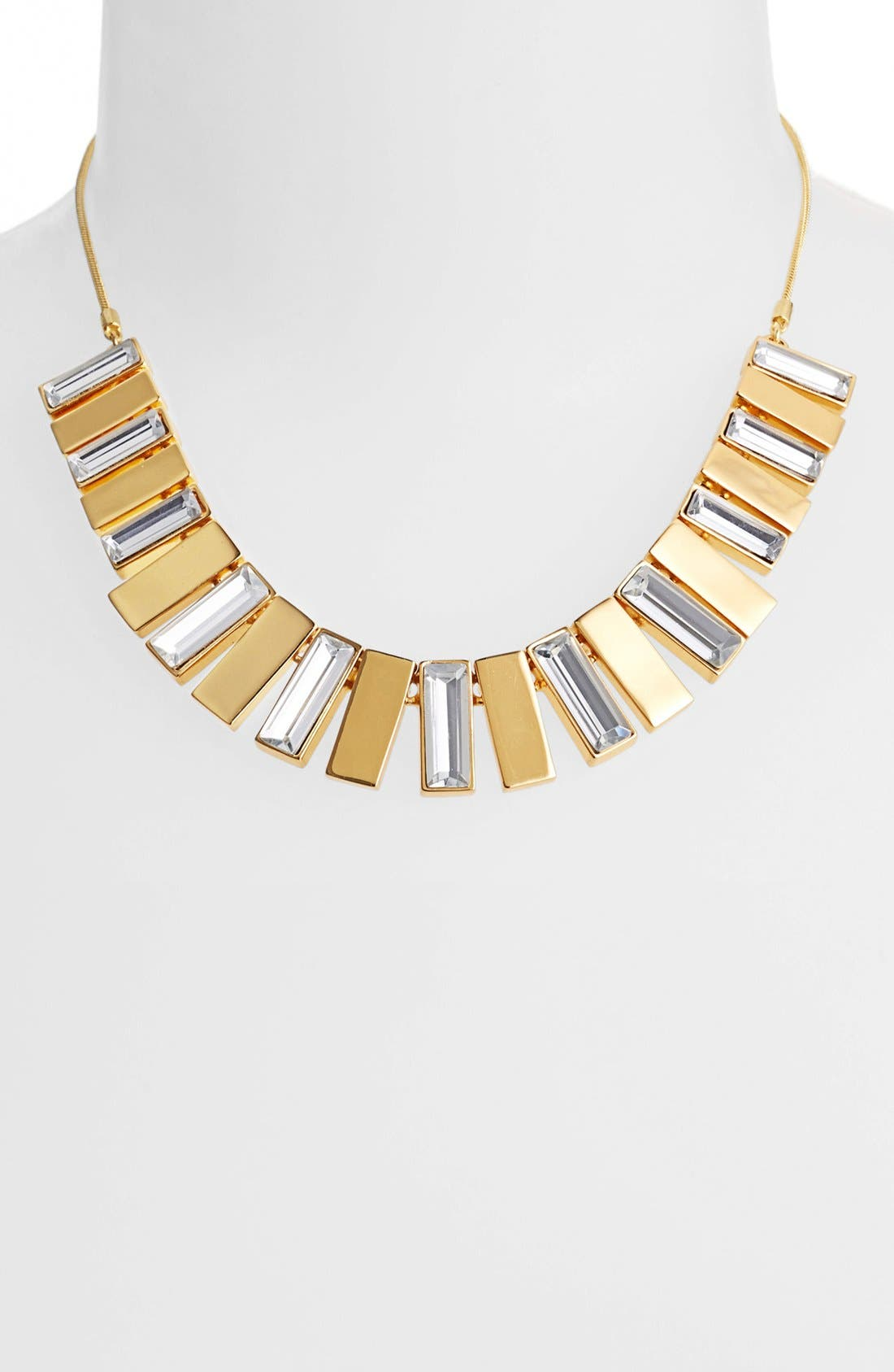 Main Image - Vince Camuto 'Crystal Clear' Baguette Crystal Bib Necklace