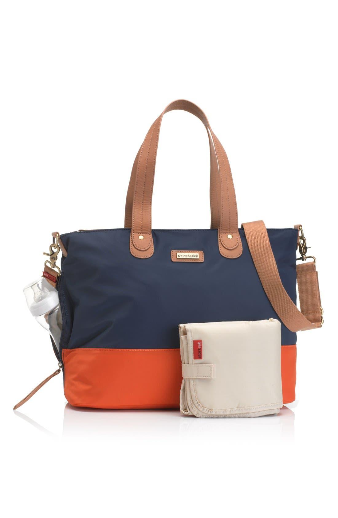 Alternate Image 2  - Storksak Colorblock Diaper Bag