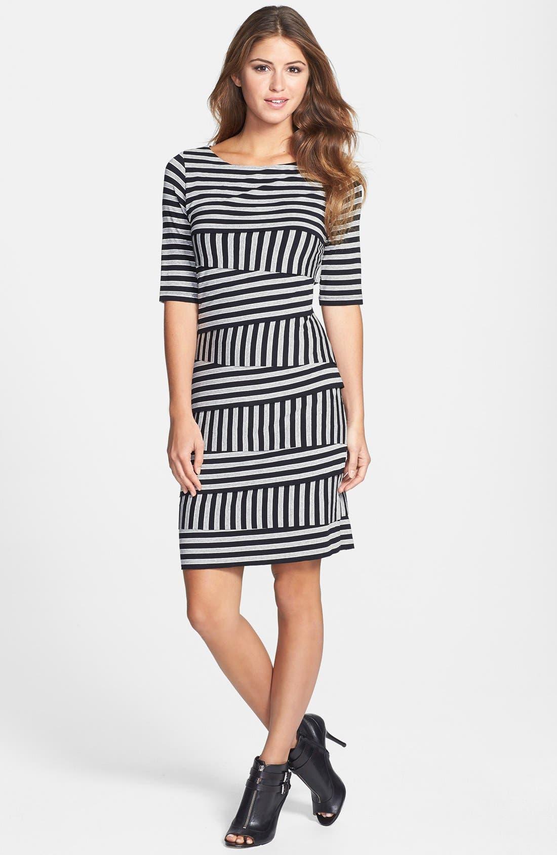 Alternate Image 1 Selected - Vince Camuto 'Calais' Zigzag Stripe Dress