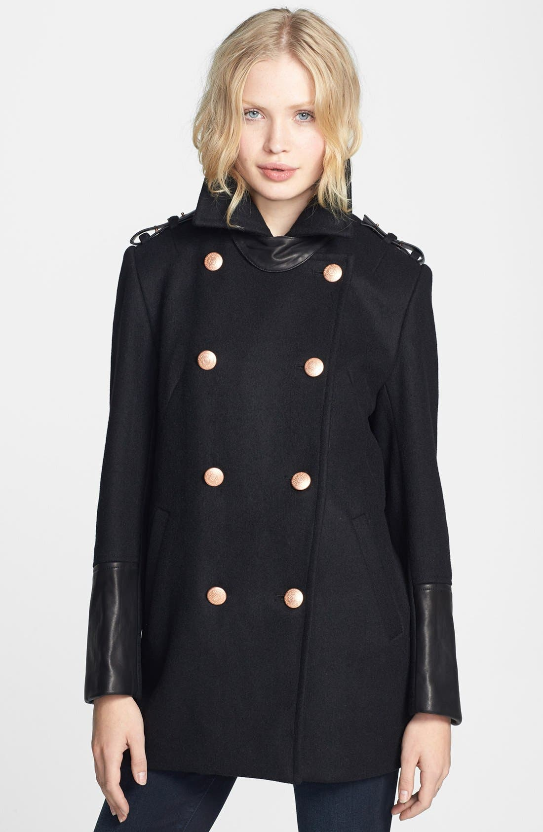 Alternate Image 1 Selected - ELEVENPARIS 'Tchad' Wool Blend Military Peacoat