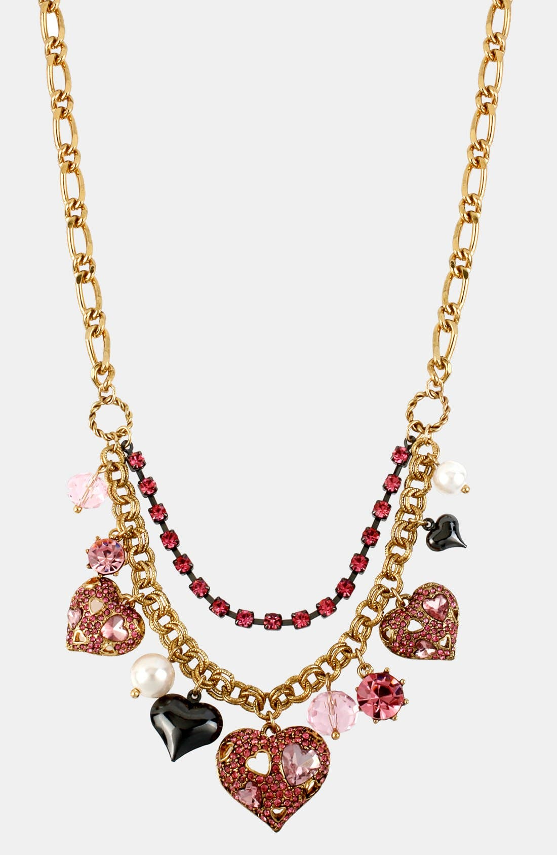 Alternate Image 1 Selected - Betsey Johnson 'Iconic Pinkalicious' Frontal Necklace