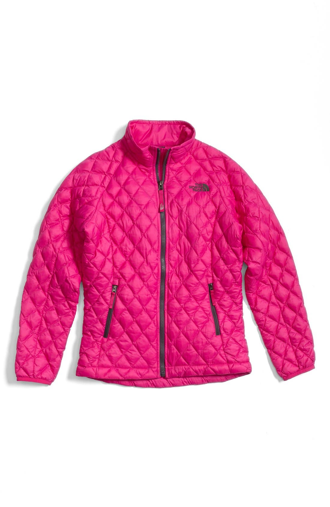 Alternate Image 1 Selected - The North Face Reversible Beanie, Quilted Jacket & Tucker + Tate Denim Leggings (Little Girls & Big Girls)