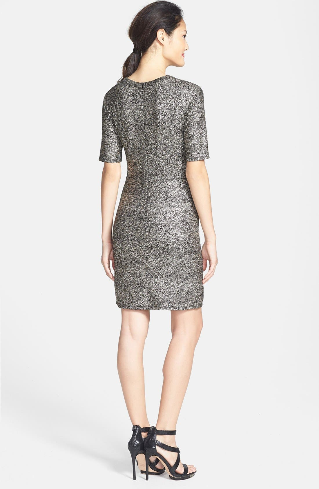 Alternate Image 2  - Collective Concepts Metallic Sheath Dress