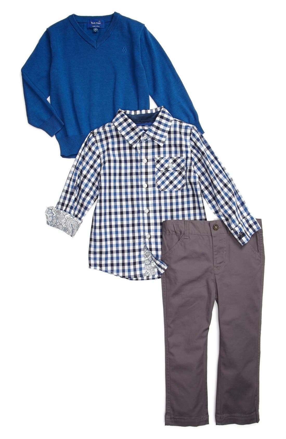 Main Image - Beetle & Thread Sweater, Sport Shirt & Pants (Toddler Boys)