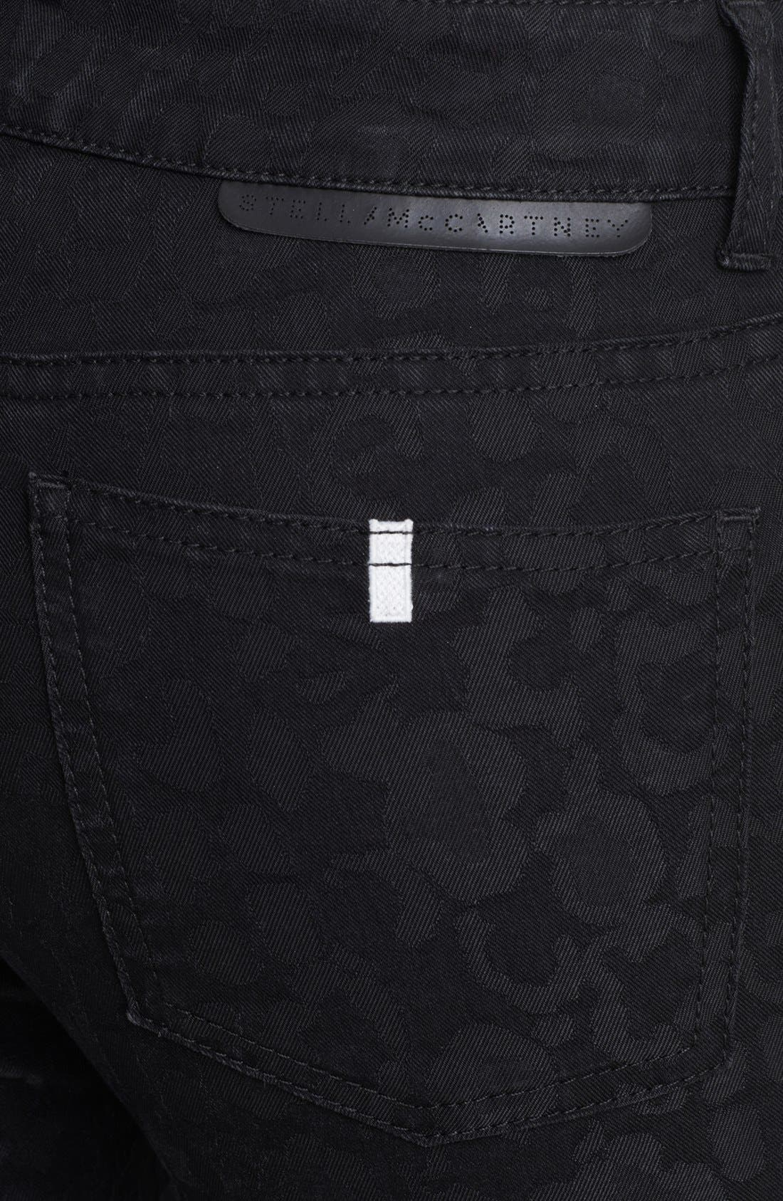 Alternate Image 3  - Stella McCartney 'Lina' Leopard Jacquard Skinny Jeans