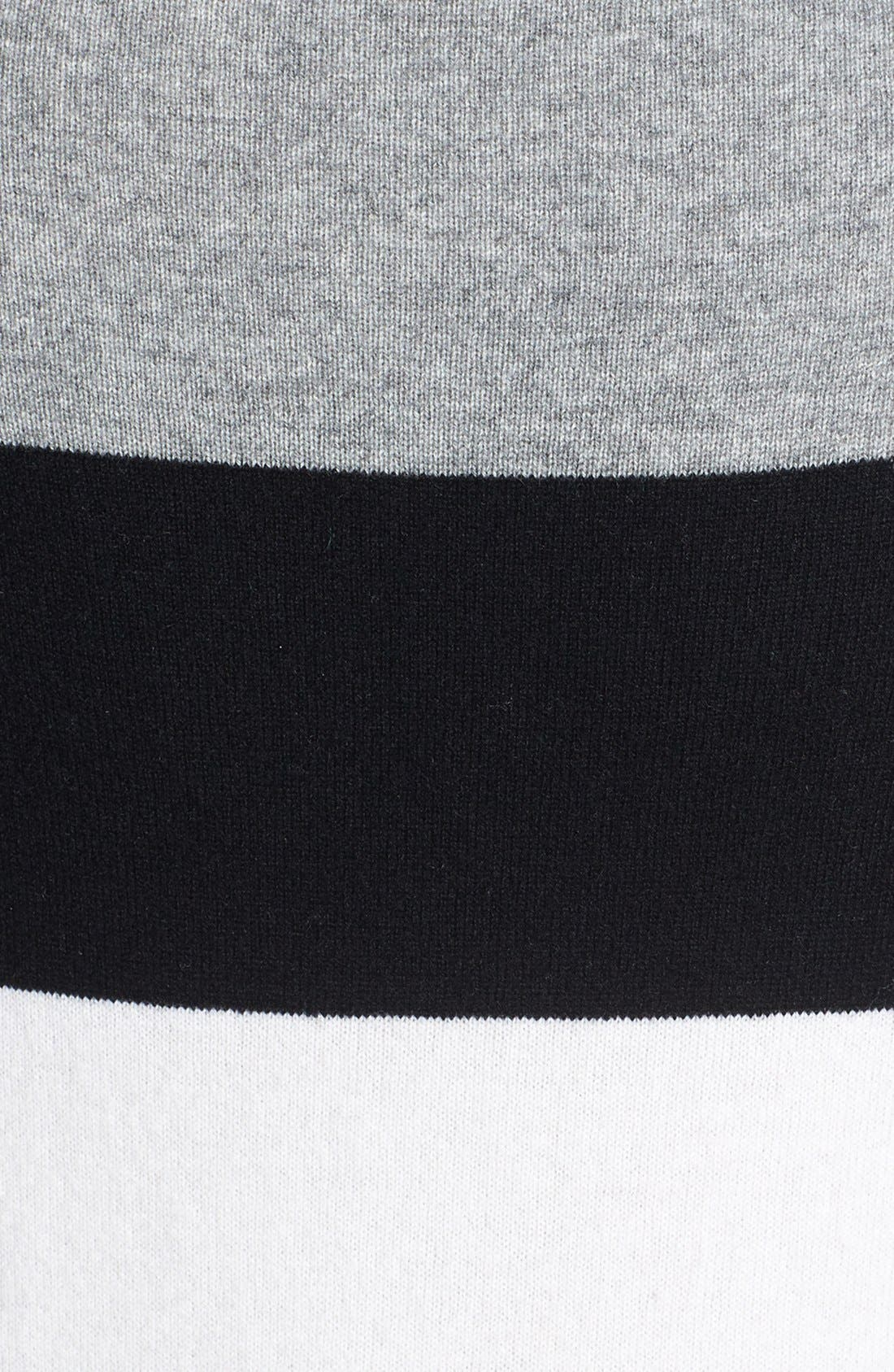 Alternate Image 3  - Nordstrom Collection Colorblock Cashmere Sweater