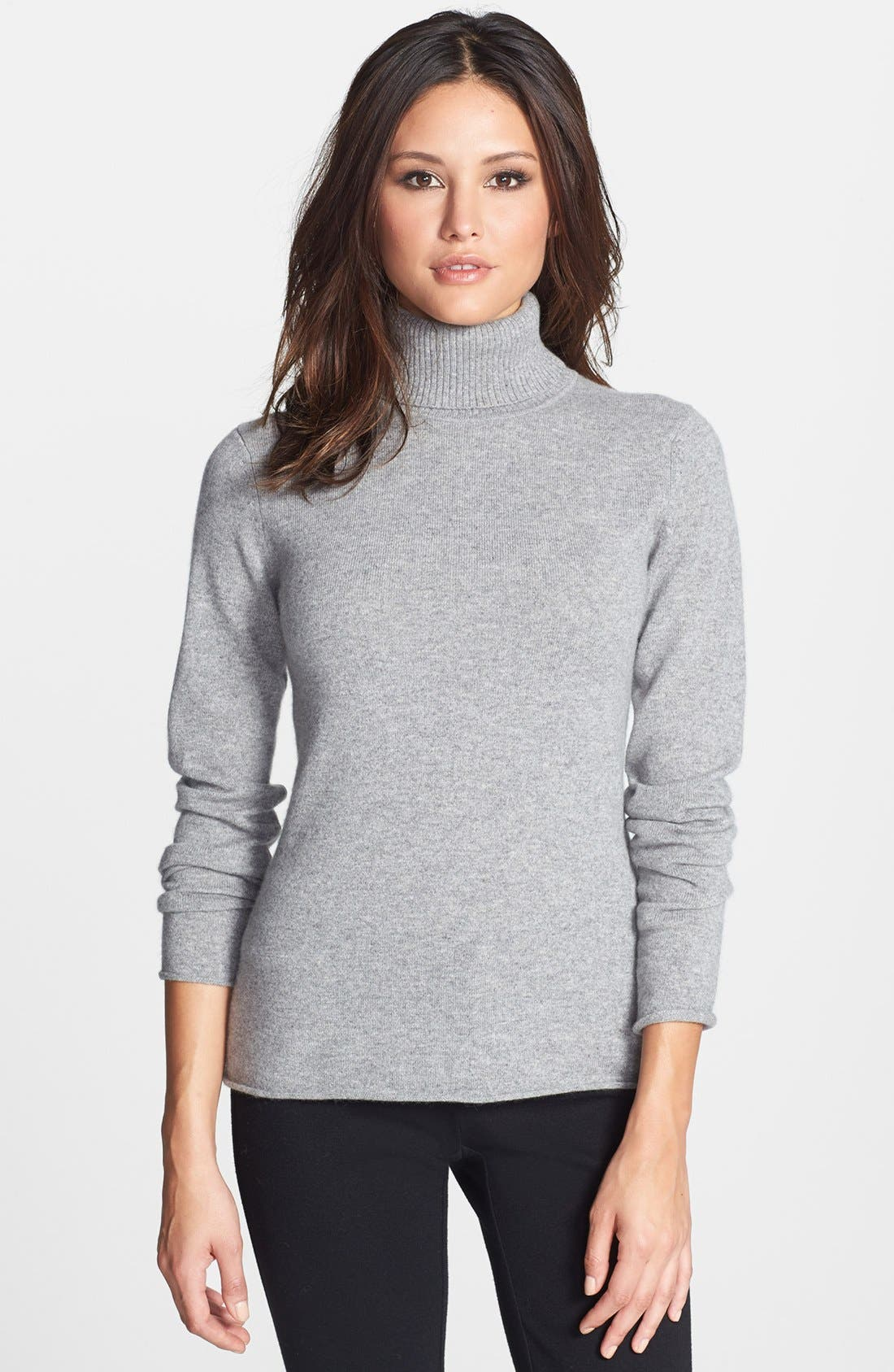 Alternate Image 1 Selected - Pure Amici Cashmere Turtleneck Sweater