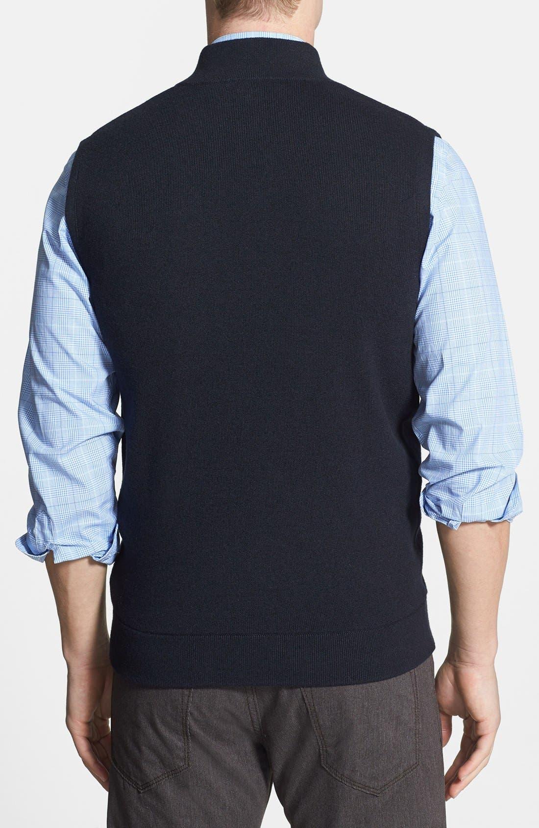 Alternate Image 2  - Façonnable Sweater Wool & Cotton Vest