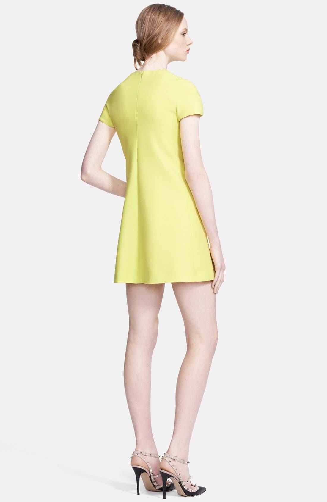 Alternate Image 2  - Valentino Bow Detail Crepe Minidress