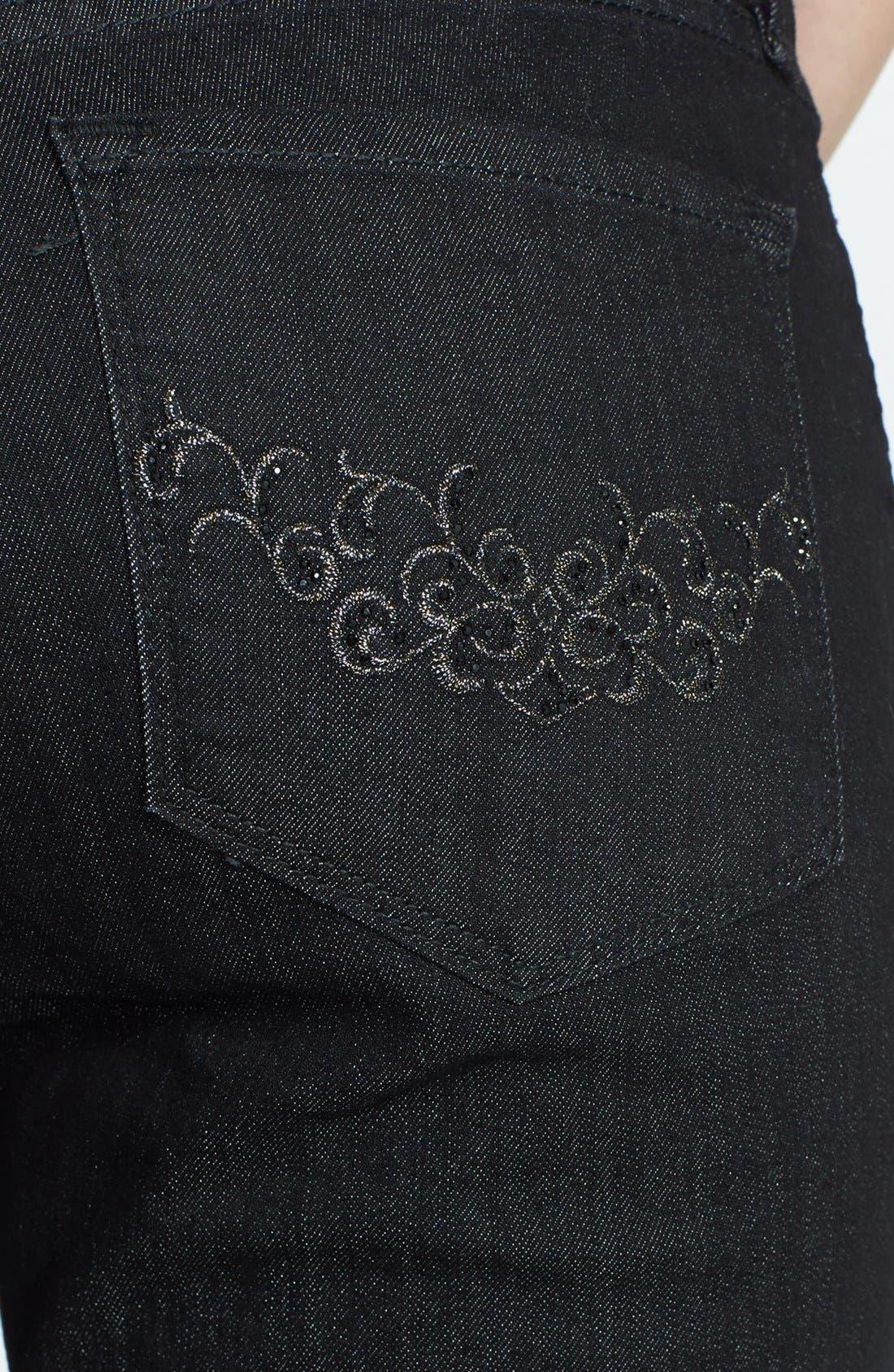 Alternate Image 2  - NYDJ 'Barbara' Stretch Bootcut Jeans (Dark Enzyme)