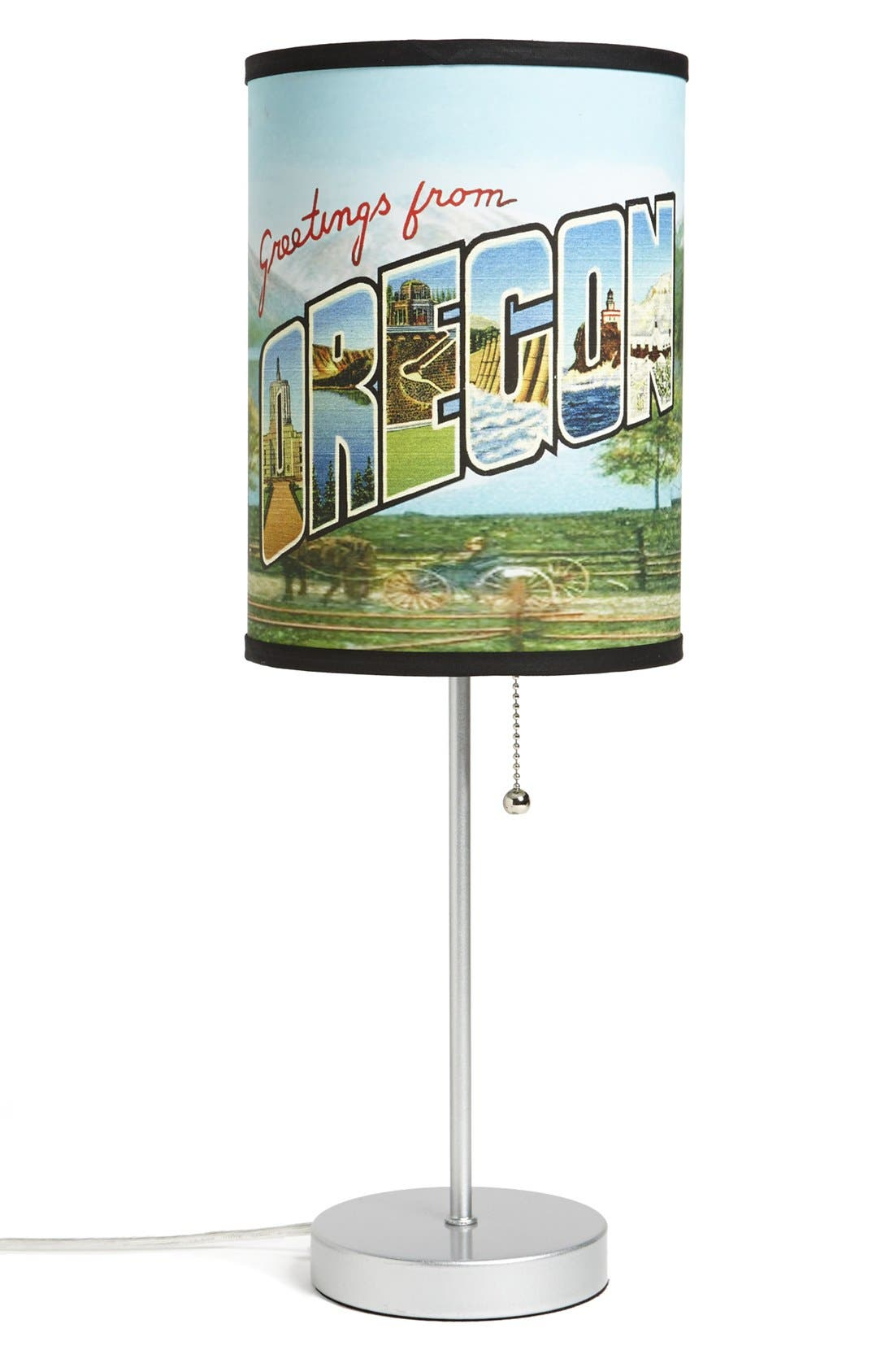 Alternate Image 1 Selected - LAMP-IN-A-BOX 'Greetings from Oregon' Table Lamp