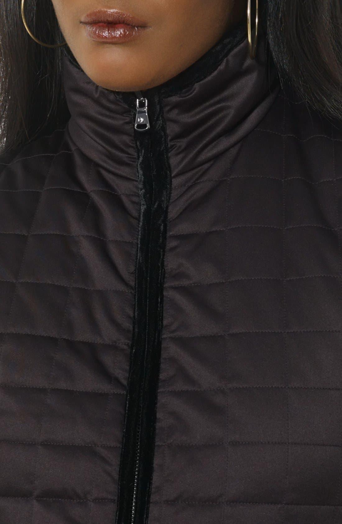 Alternate Image 4  - Lauren Ralph Lauren Reversible Quilted Vest (Petite)