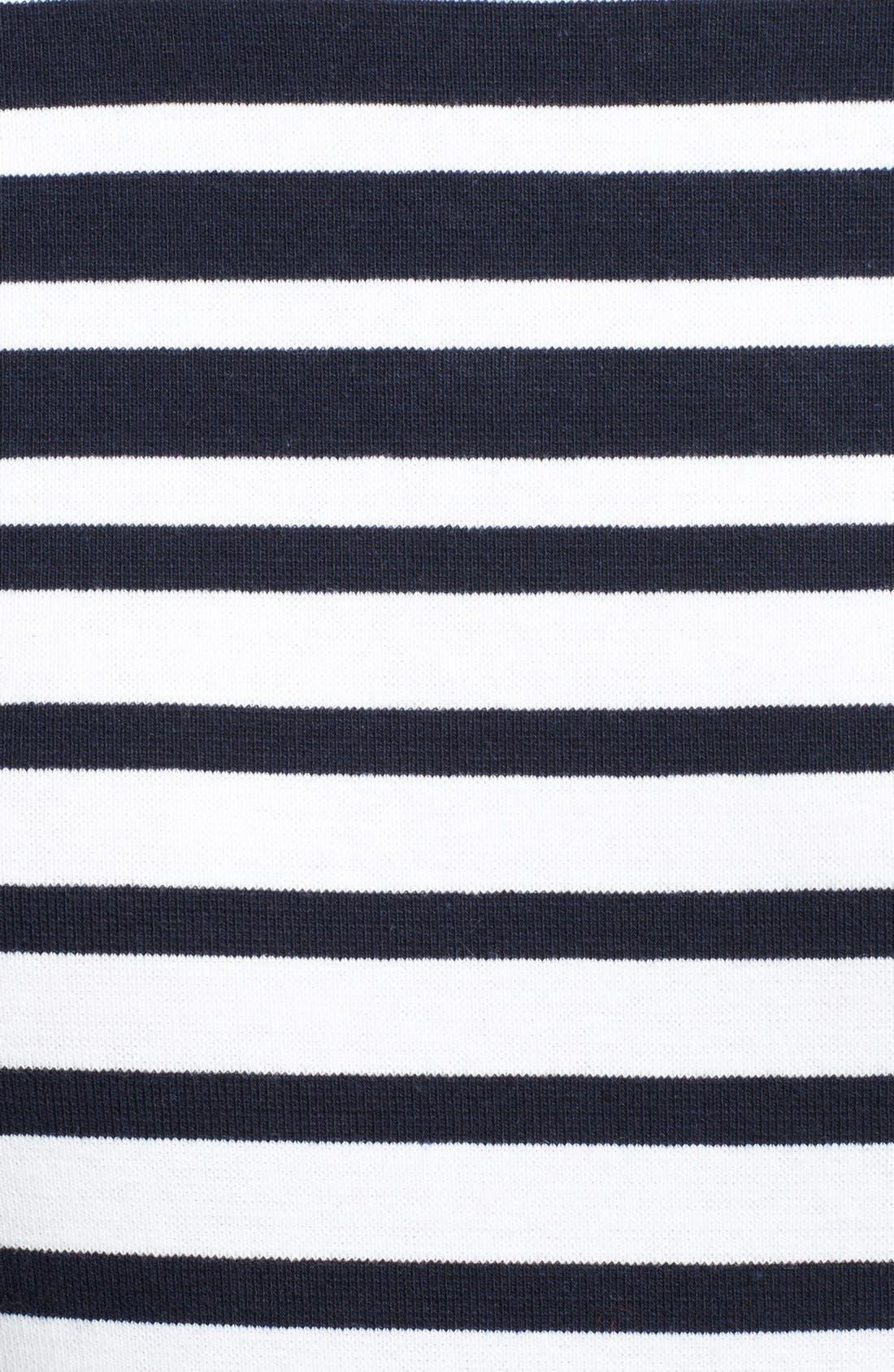Long Sleeve Crop Tee,                             Alternate thumbnail 3, color,                             Ink/ White