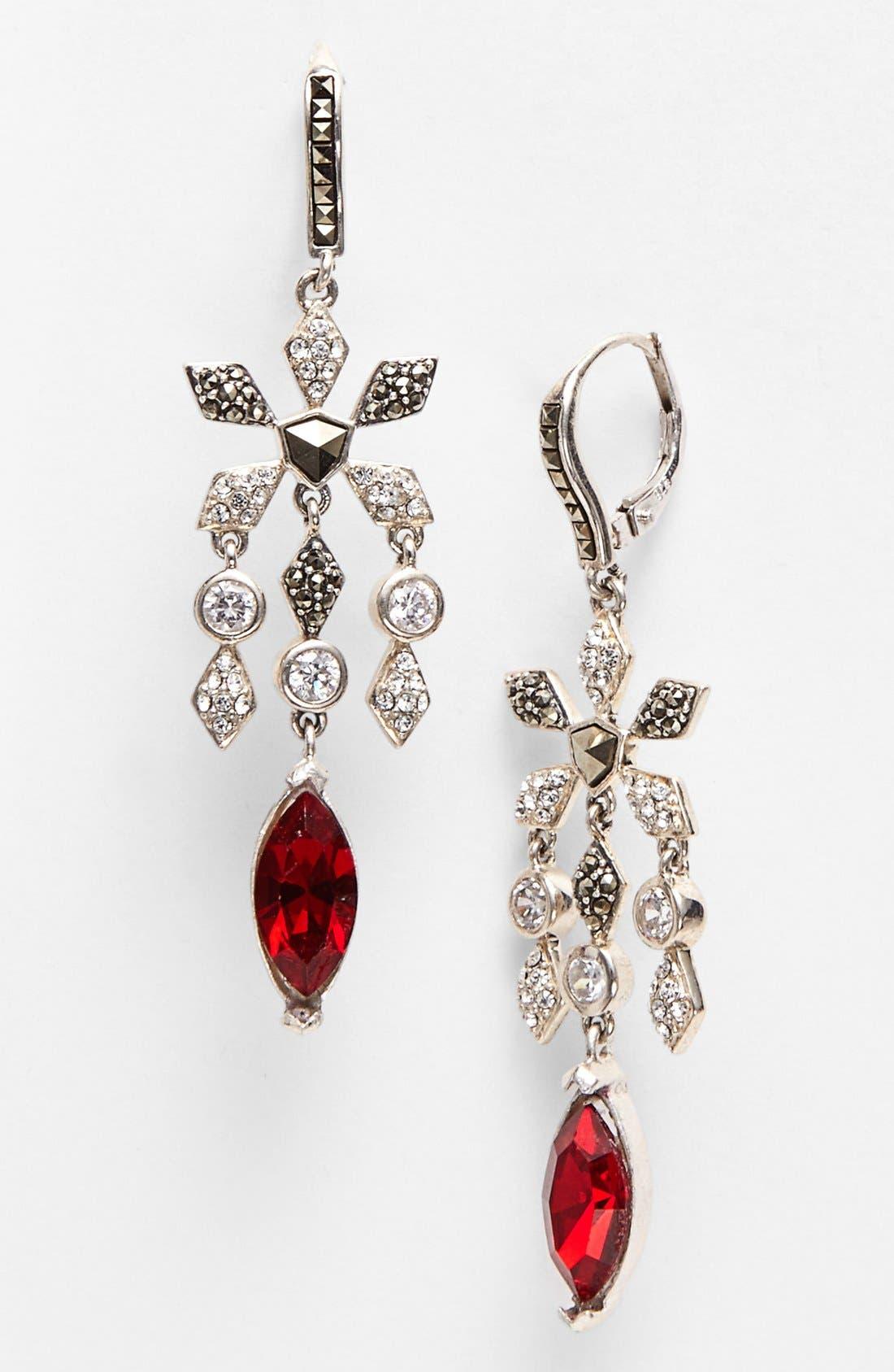 Main Image - Judith Jack 'Frosted Glaze' Chandelier Earrings