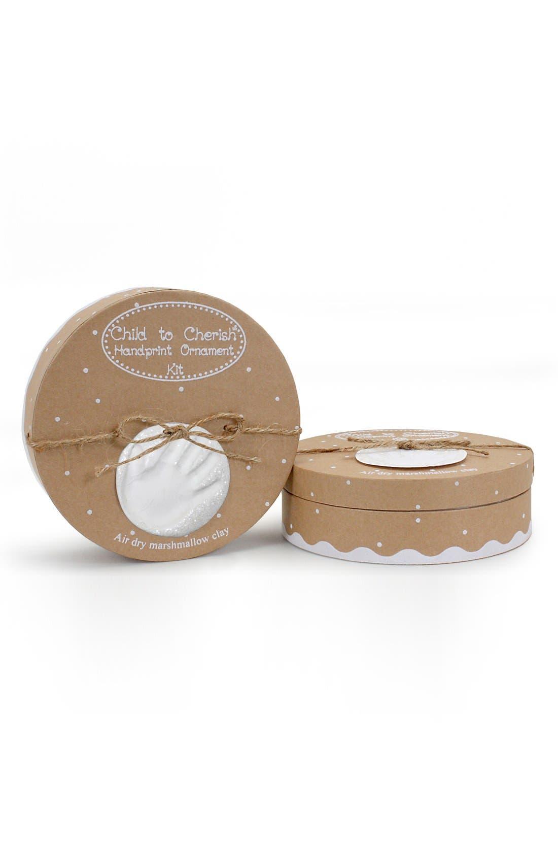 Main Image - Child to Cherish 'Snowprints' Marshmallow Clay Glitter Handprint Ornament Kit