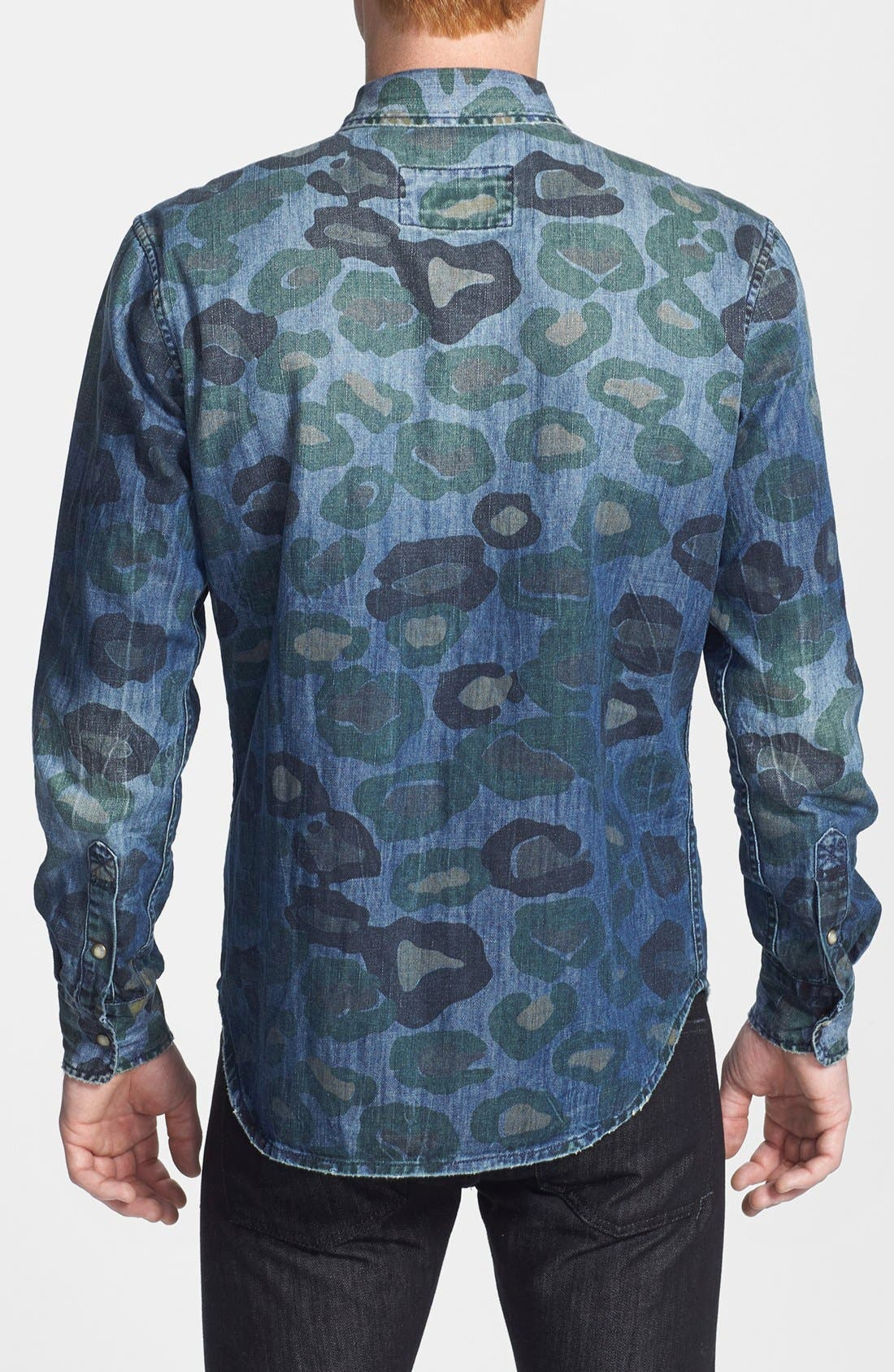 Alternate Image 2  - ZANEROBE 'Cats with Guns' Camo Print Denim Shirt