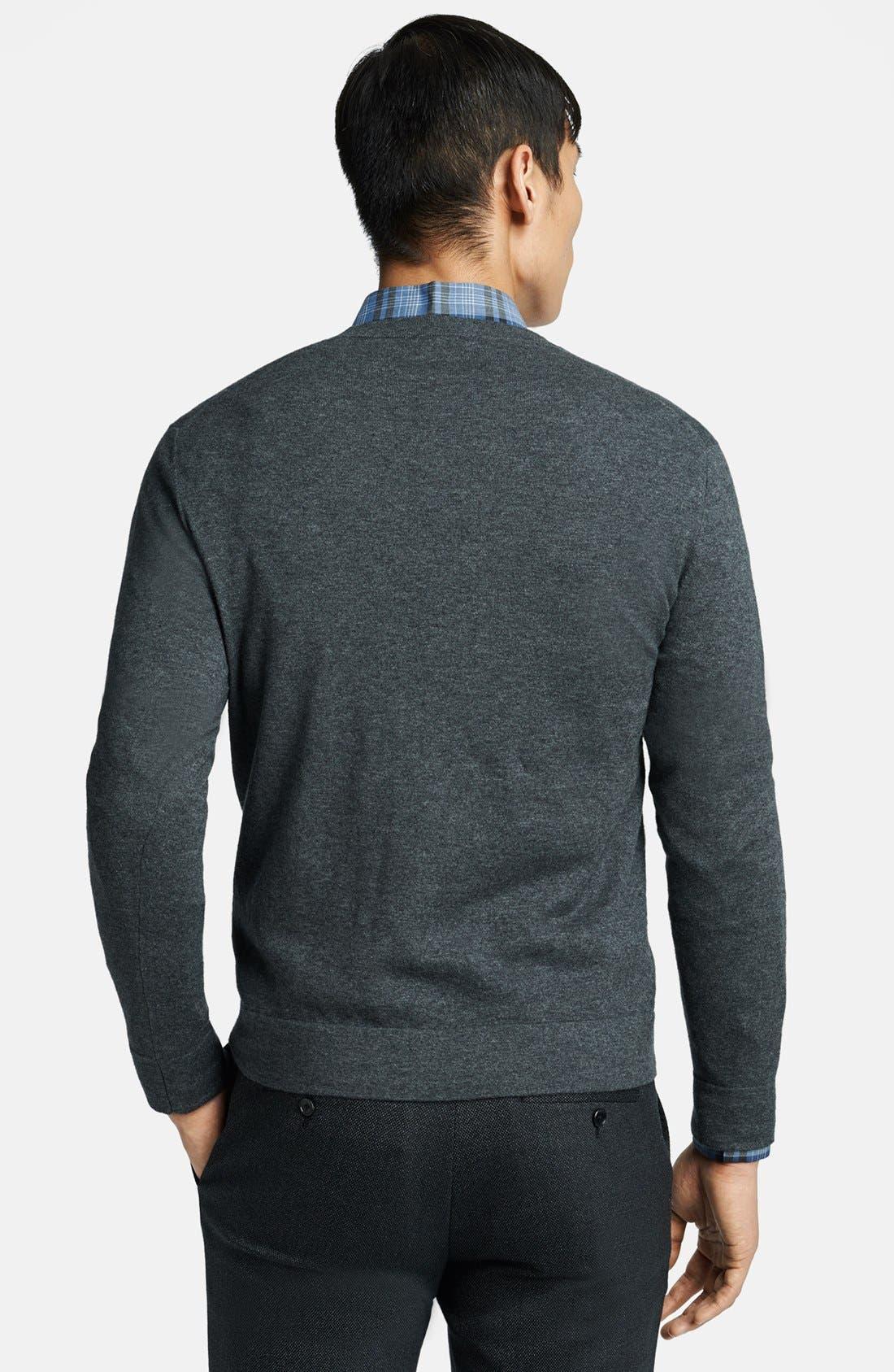 Alternate Image 2  - Theory V-Neck Cotton & Cashmere Sweater