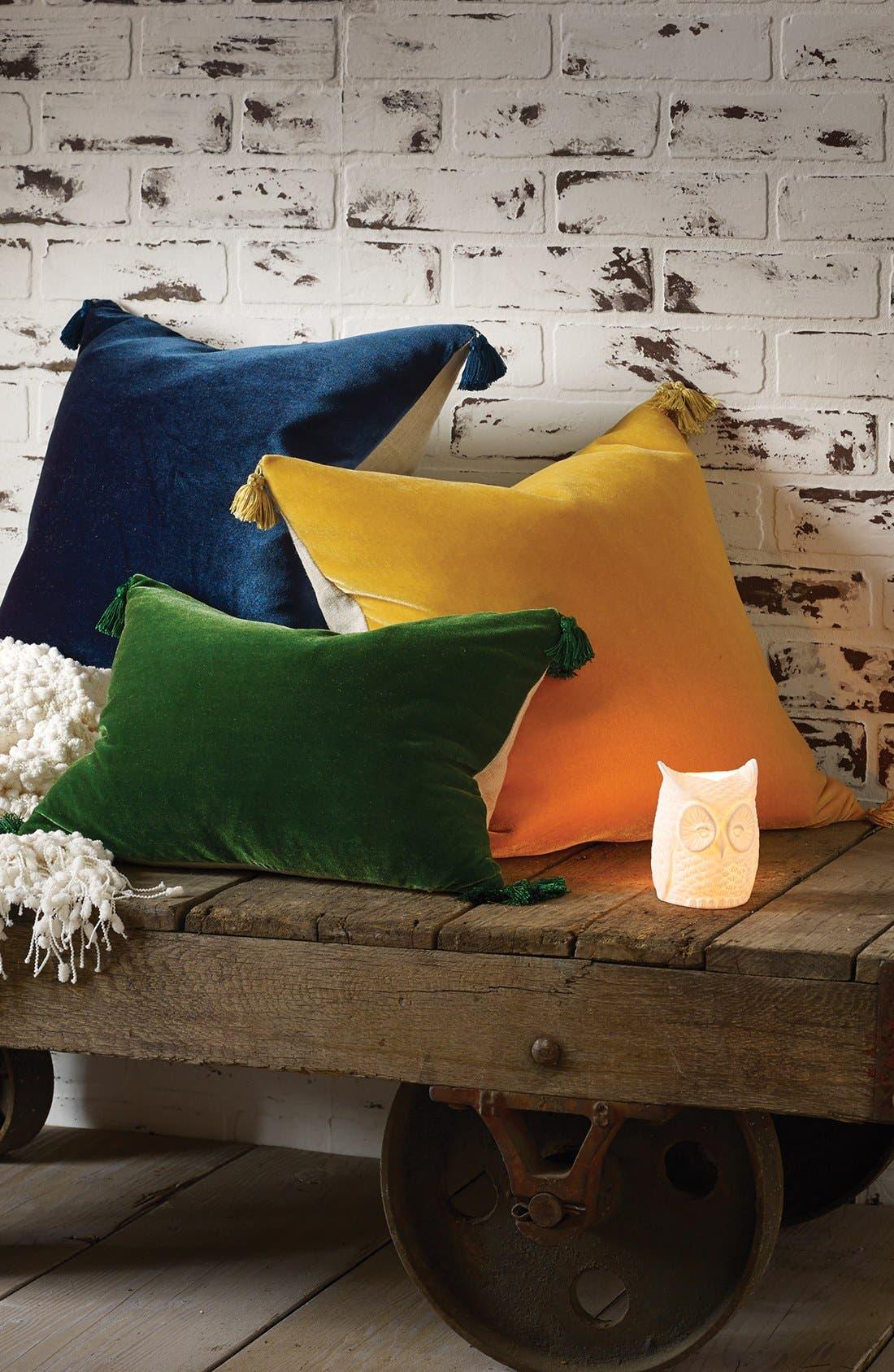 Alternate Image 2  - Blissliving Home 'Addison' Velvet & Linen Pillow (Online Only)